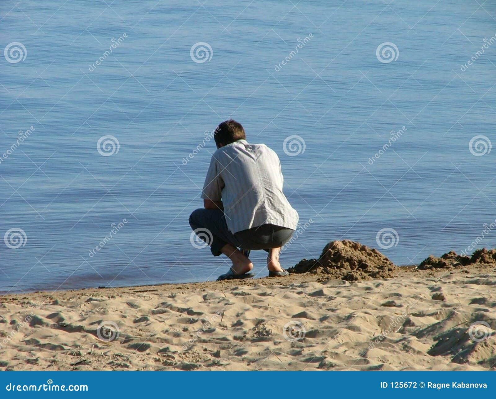 Kerel en het strand