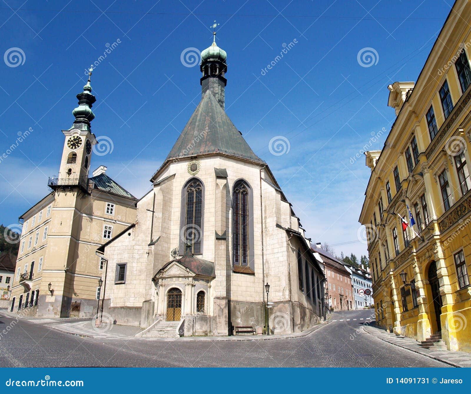 Kerk in Banska Stiavnica