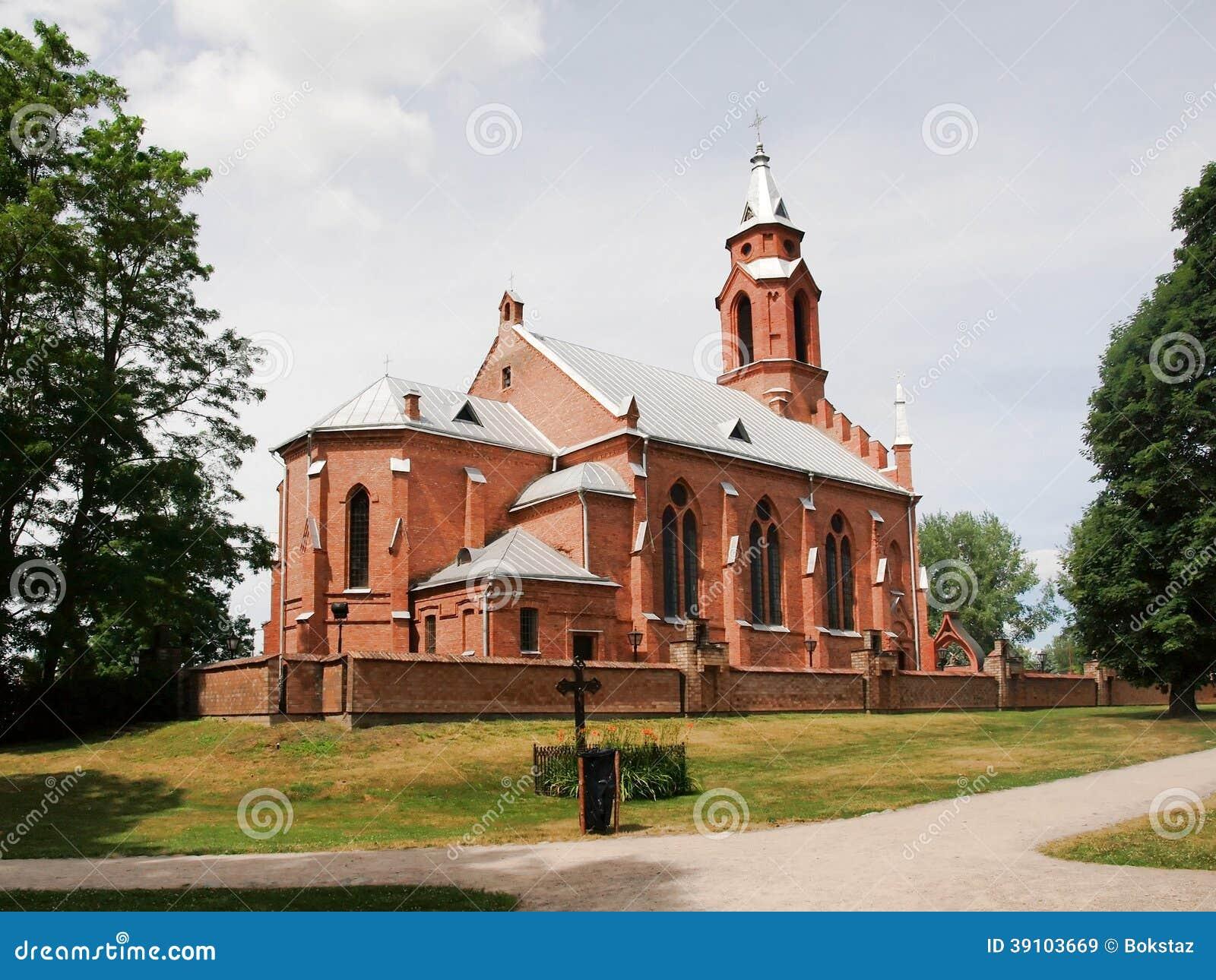 Kerk in Kernave. Litouwen