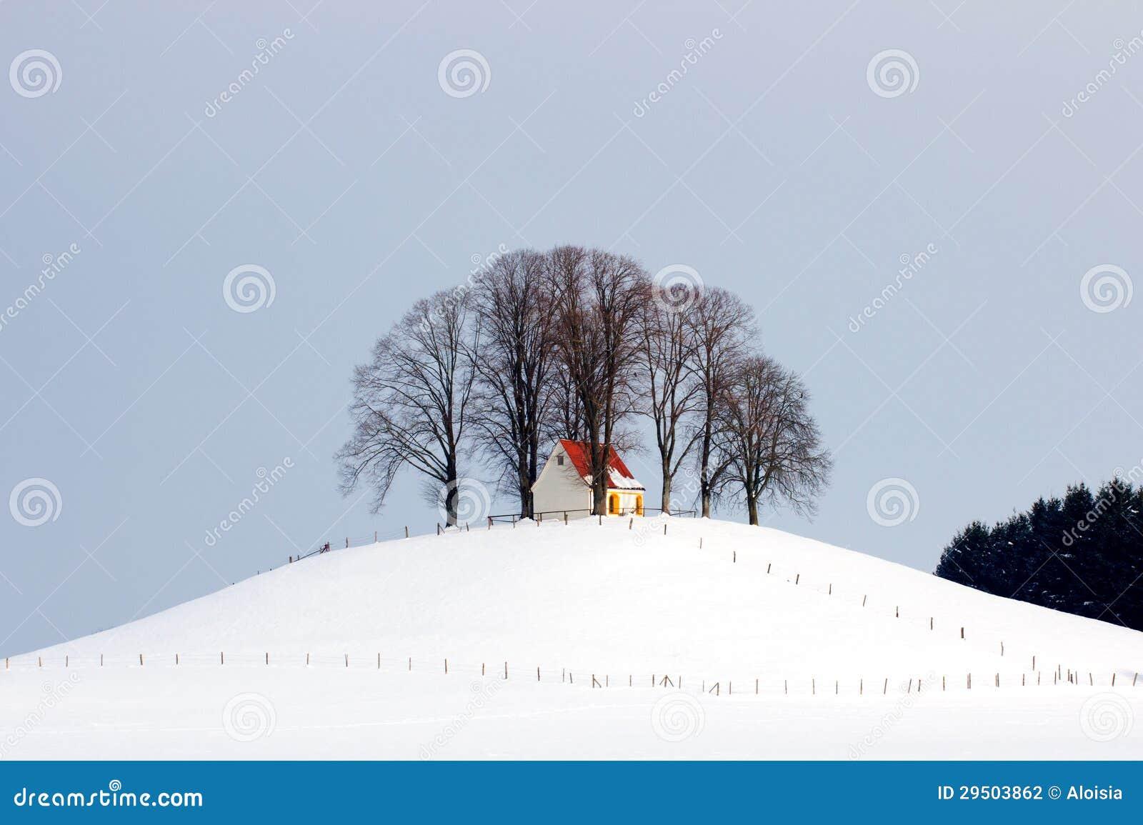 Kerk op een heuvel