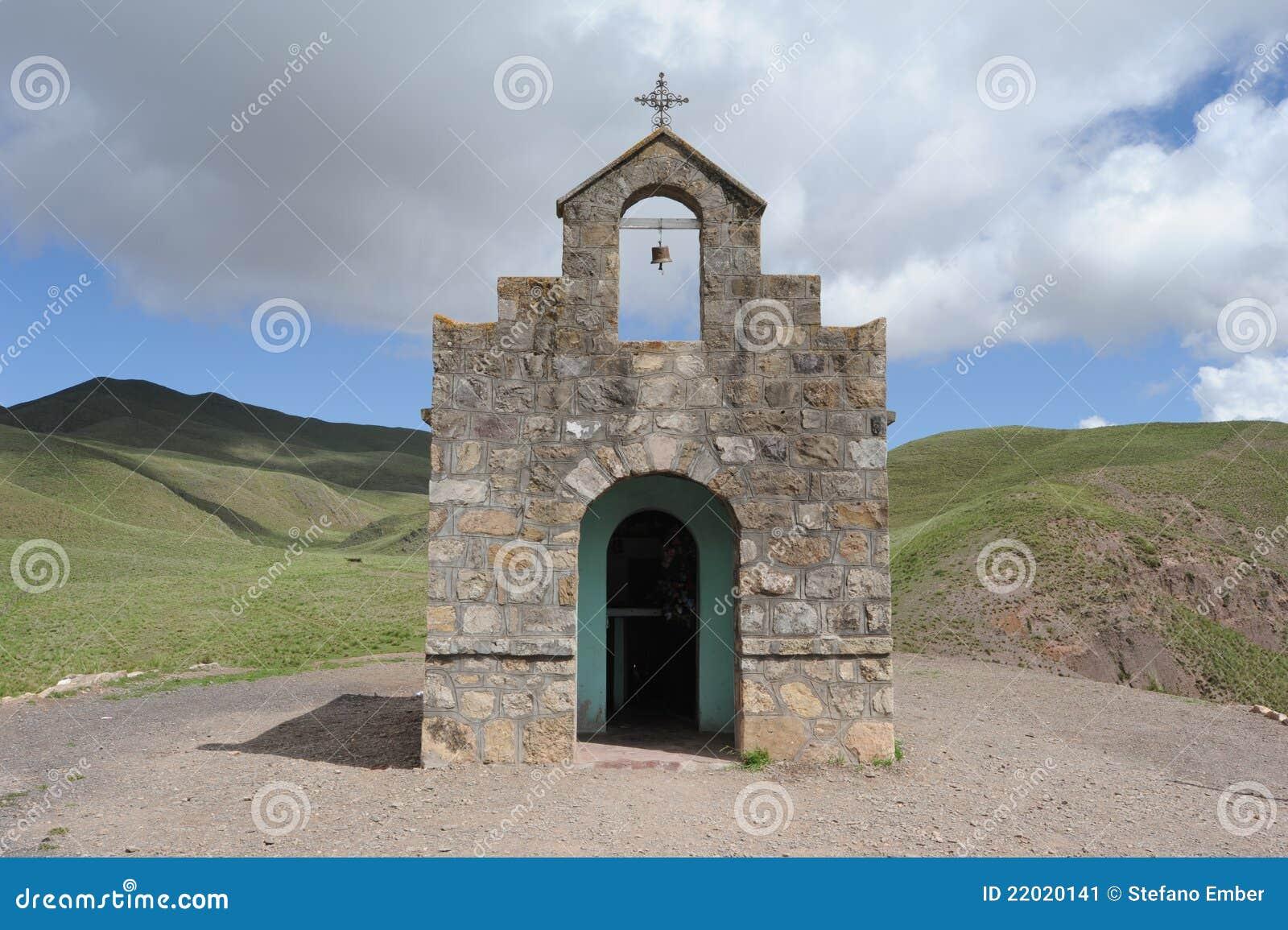 Kerk op vallei Calchaquíes dichtbij Salta