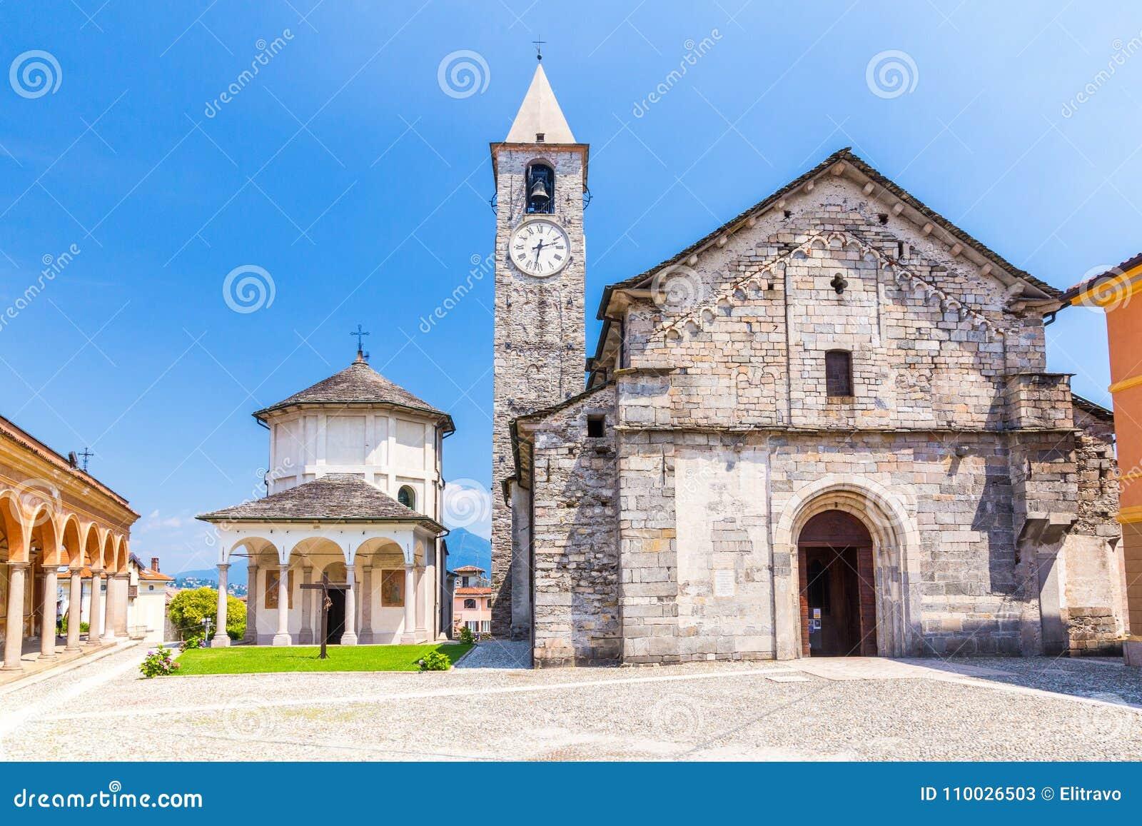 Kerk van Gervasio en Protasio in Baveno, op Meer maggiore, Pastei