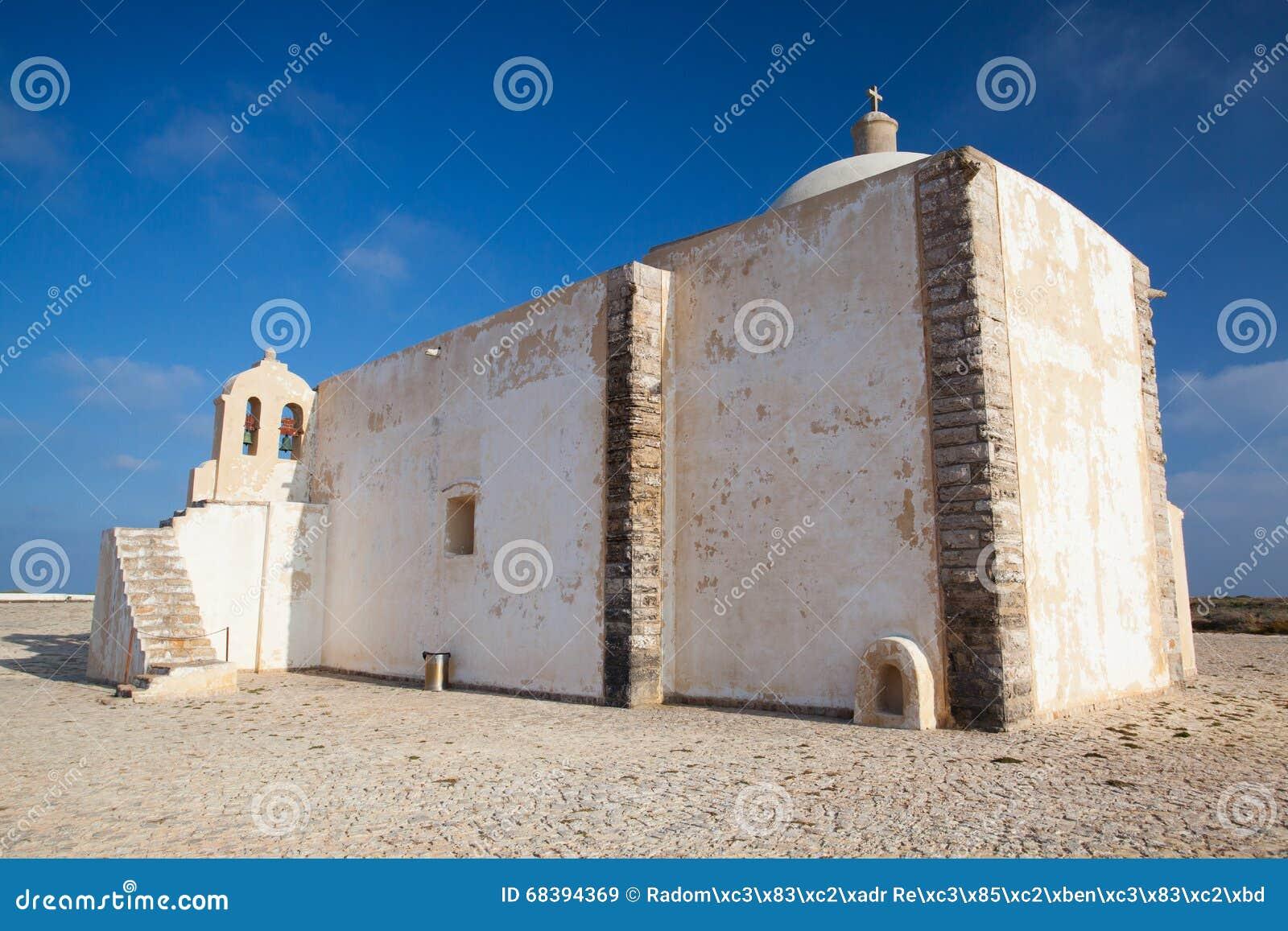 Kerk van Onze Dame van Gunst bij Sagres-Vesting, Algarve, Portugal