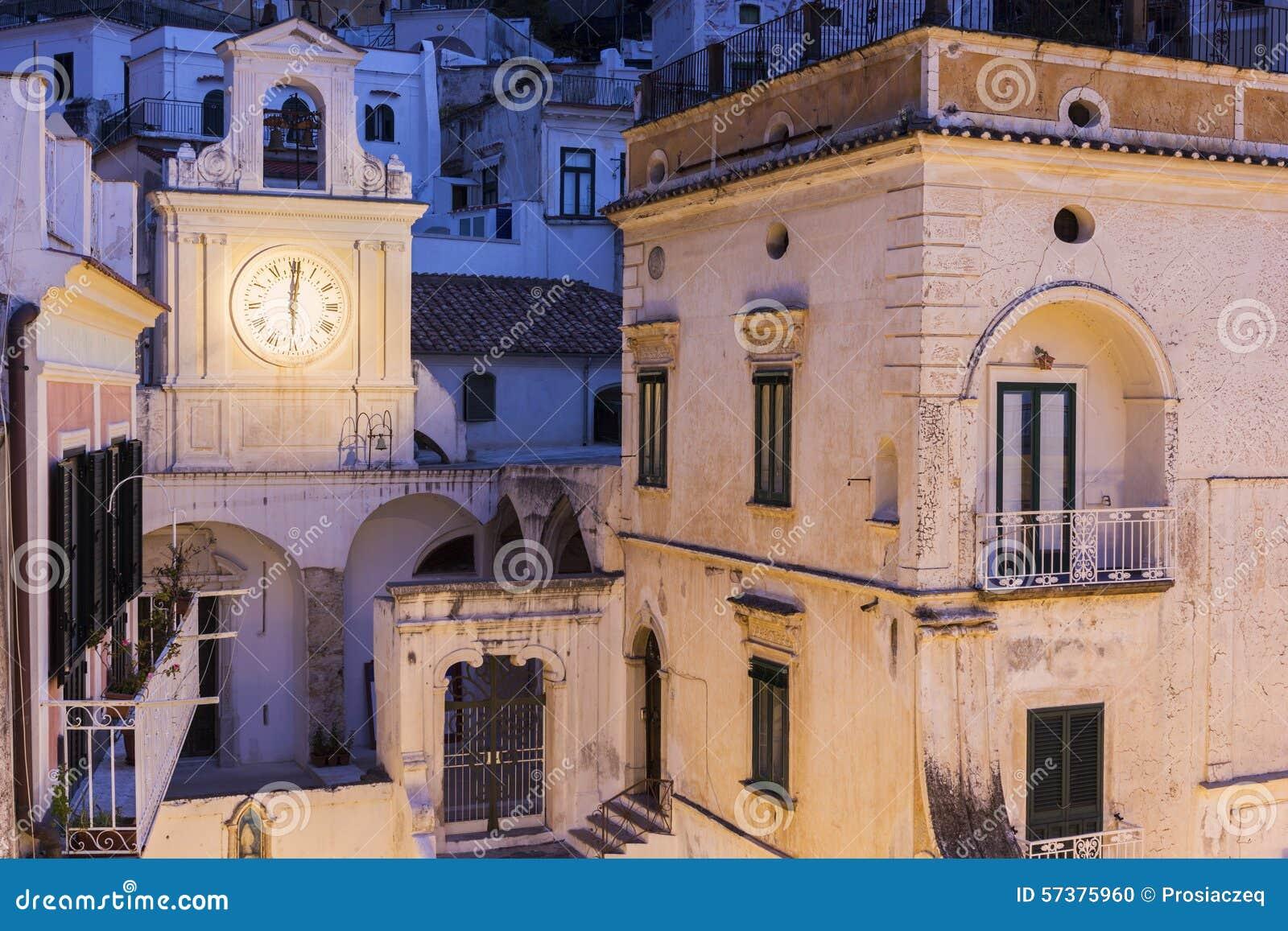 Kerk van San Salvatore de Birecto in Atrani, Italië