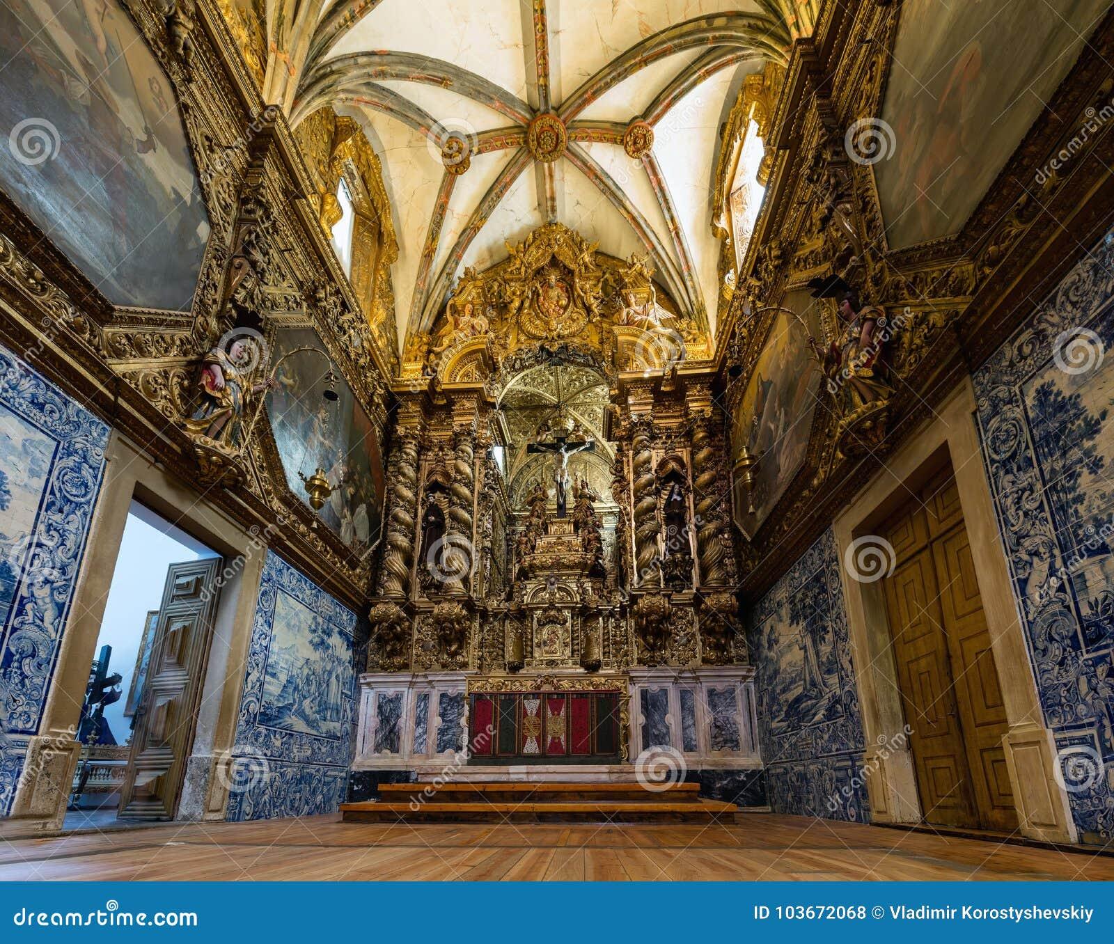 Kerk van St Francis in Evora, Portugal