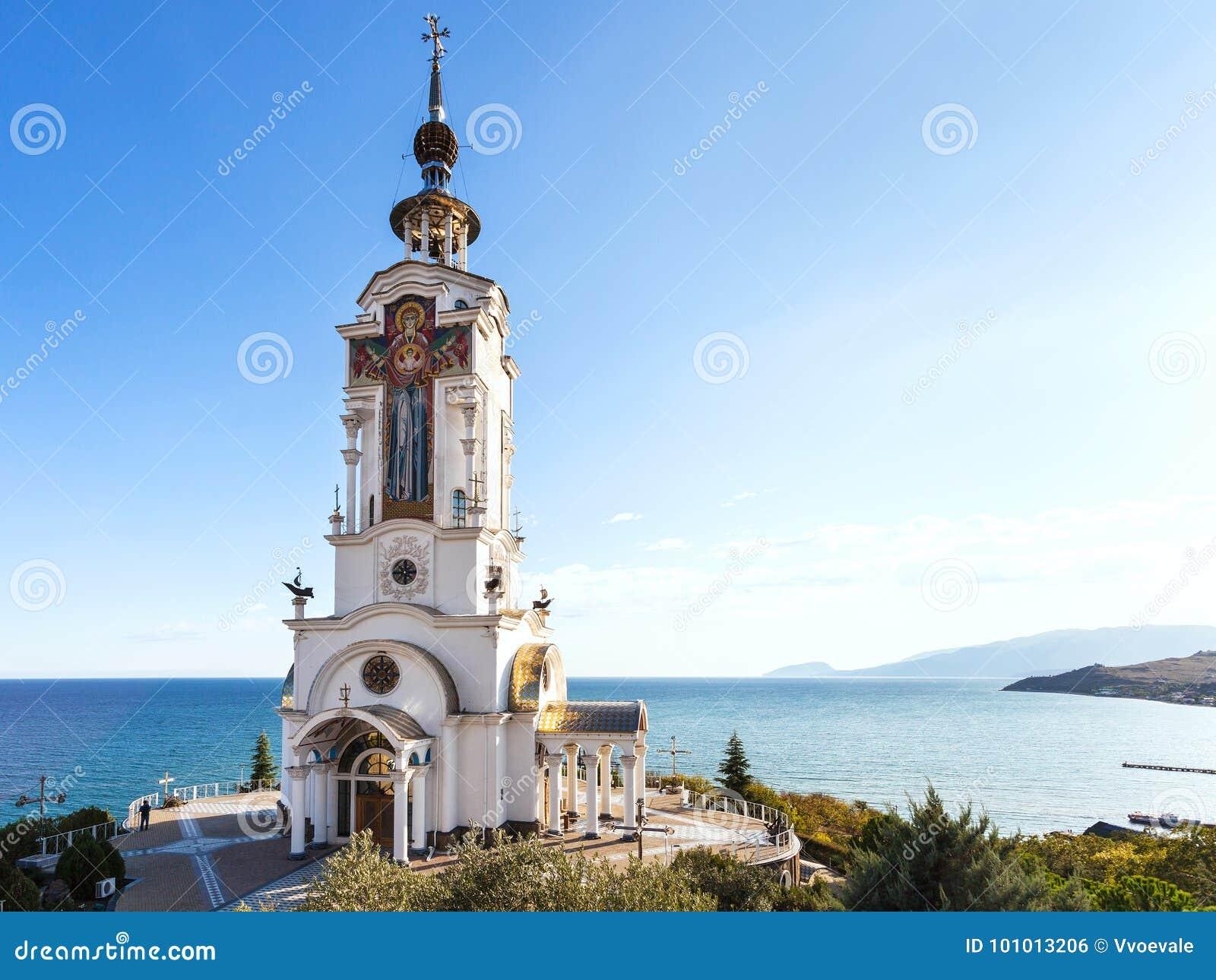 Kerk-vuurtoren van St Nichola in de Krim