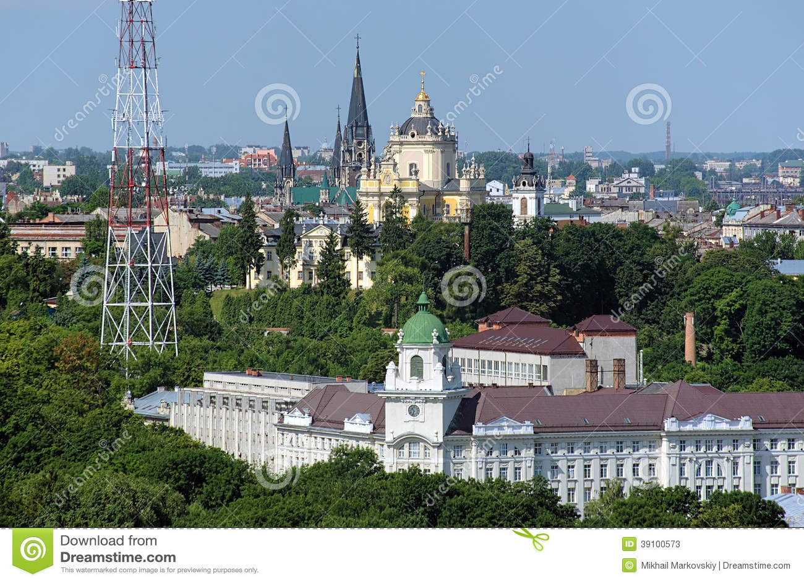 Kerken in Lviv, de Oekraïne
