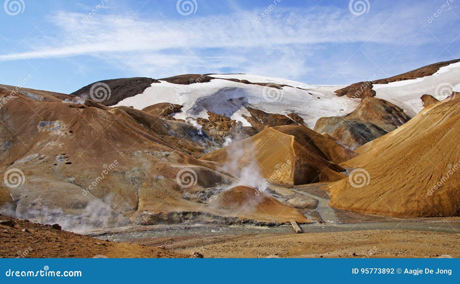 Kerlingarfjoll rhyoliet mountain in centre of Iceland