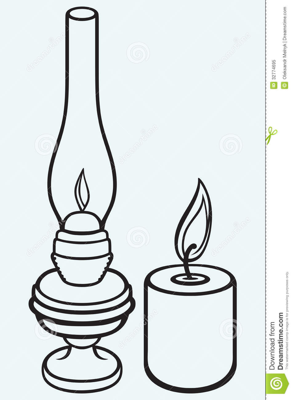 Old Oil Lamps Drawing for Oil Lamp Clip Art  197uhy
