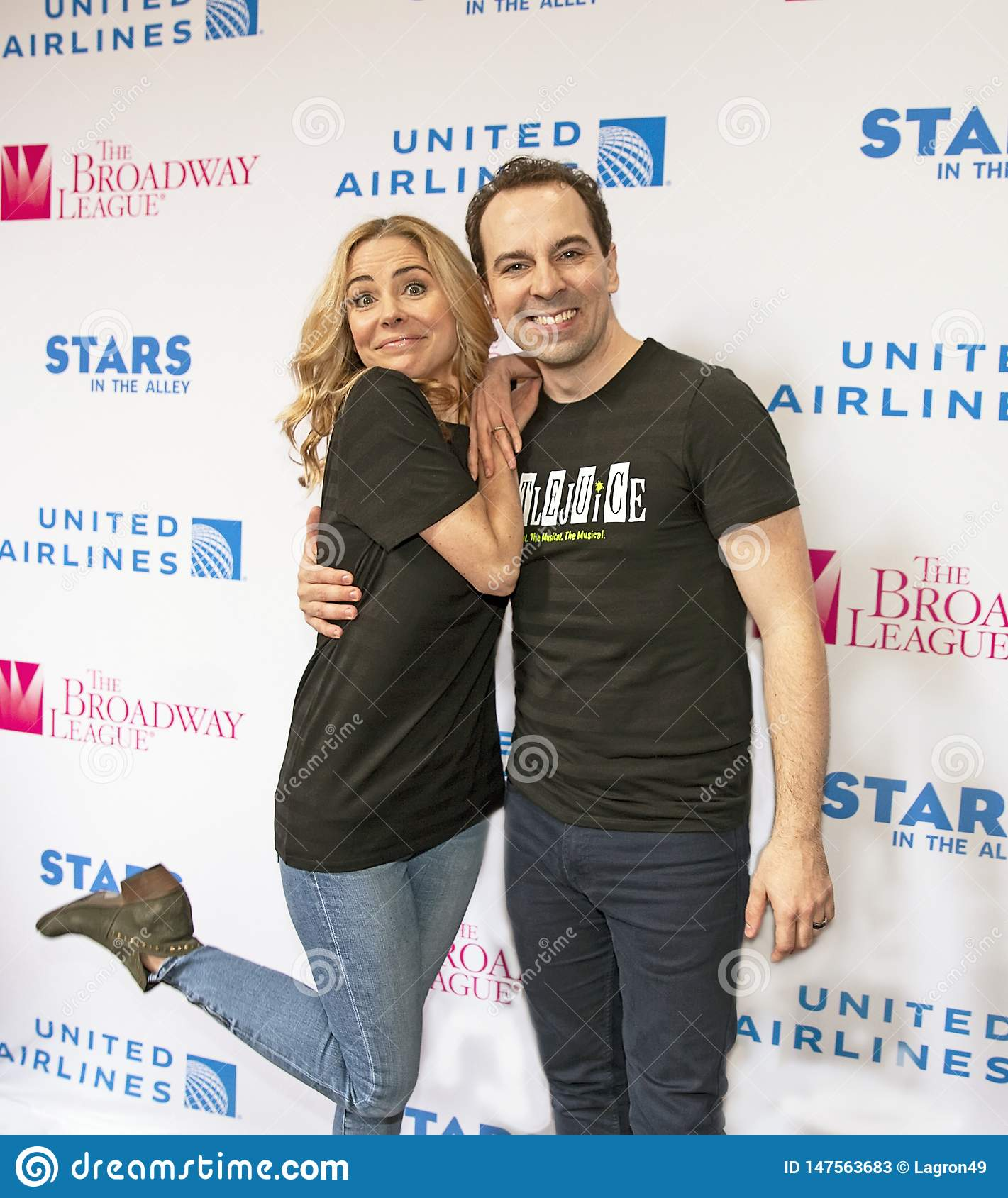 Kerry Butler & Rob McClure at 2019 Stars in the Alley