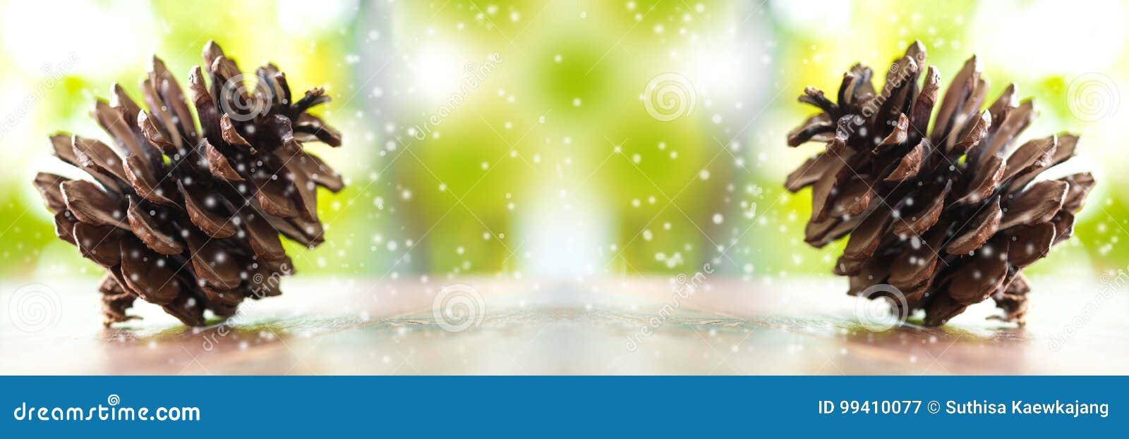Kerstbomen en vrolijk Kerstmiswoord Sluit omhoog Denneappels