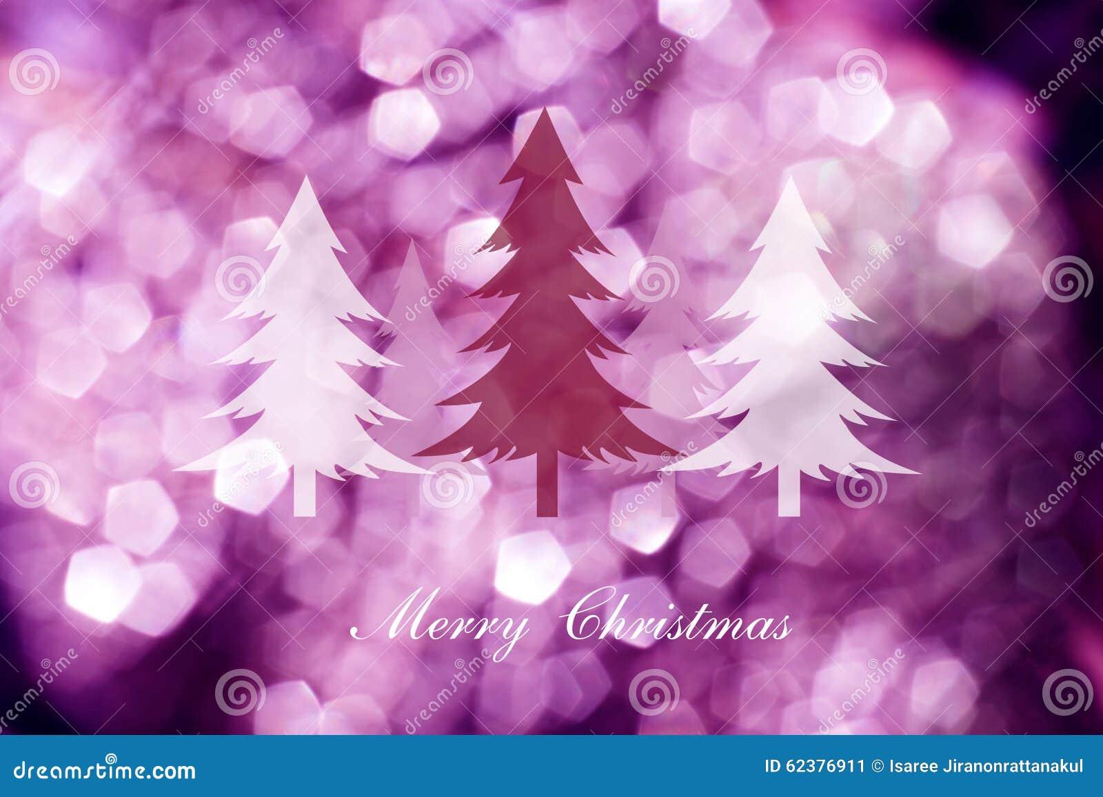 Kerstbomen Op Abstracte Lichte Achtergrond Kerstkaarten Stock