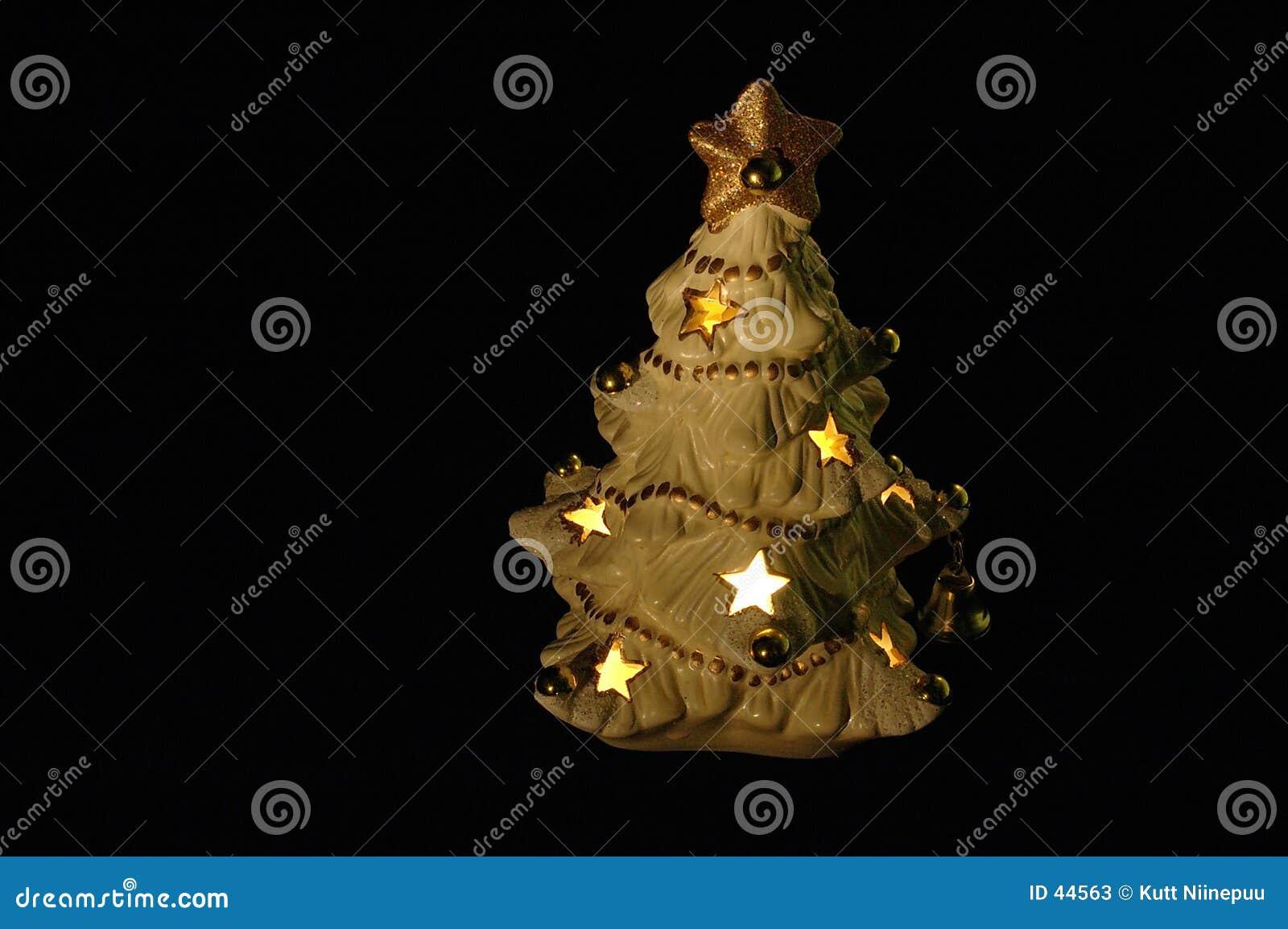 Download Kerstboom stock afbeelding. Afbeelding bestaande uit donker - 44563