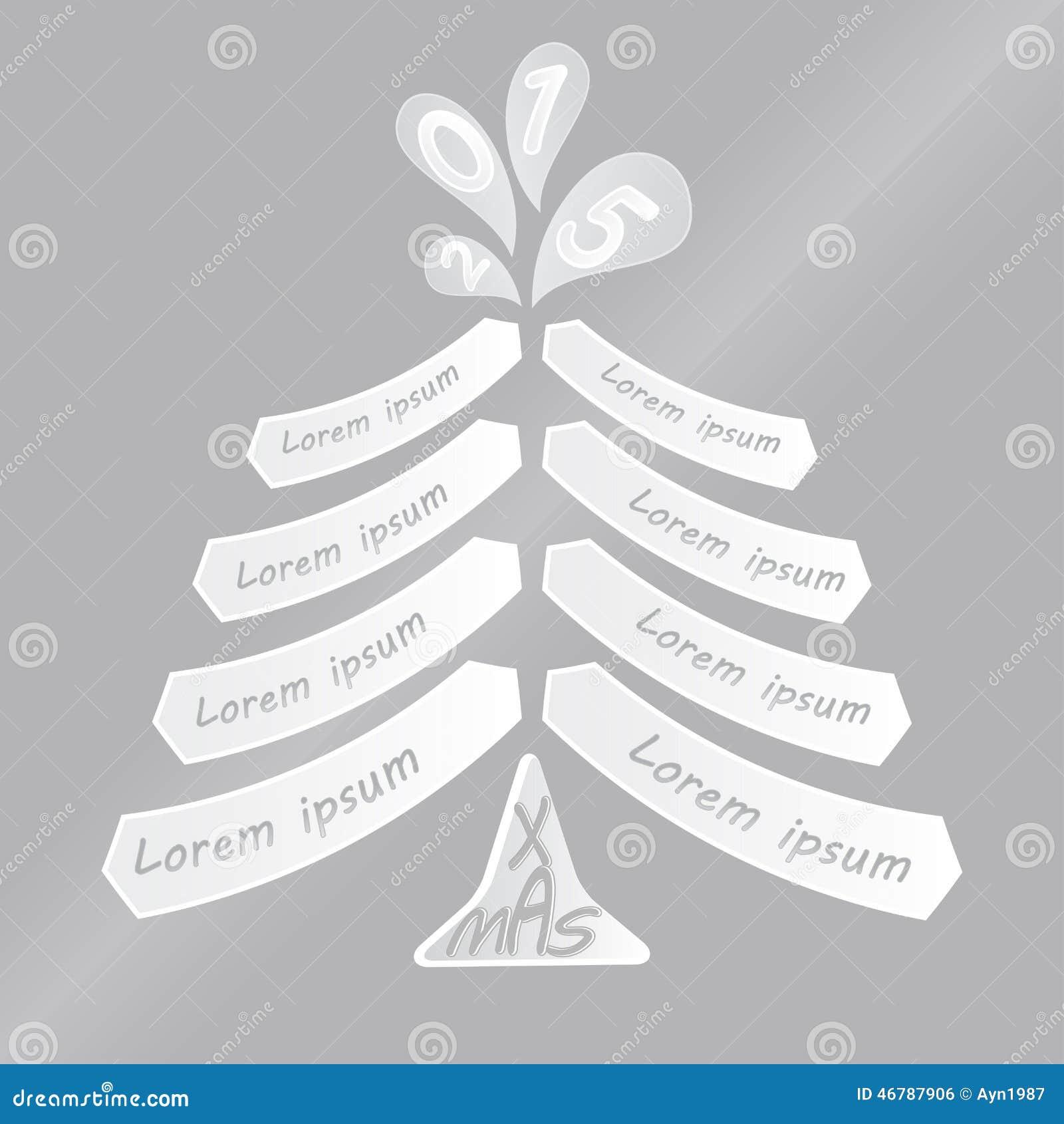 kerstboom met ruimte voor het schrijven van wensen vector. Black Bedroom Furniture Sets. Home Design Ideas