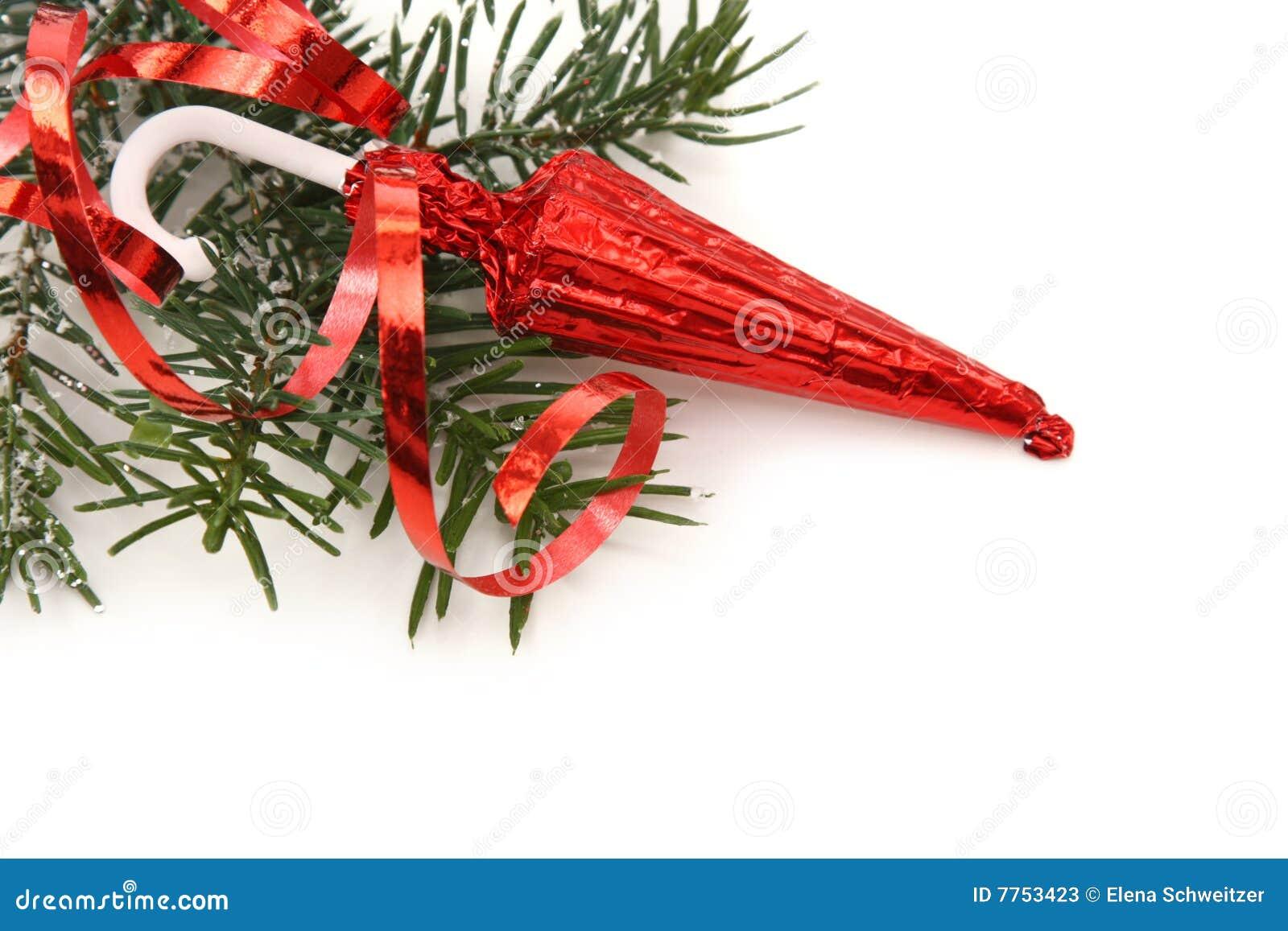Kerstboom Met Zoete Paraplu Stock Afbeelding Afbeelding Bestaande