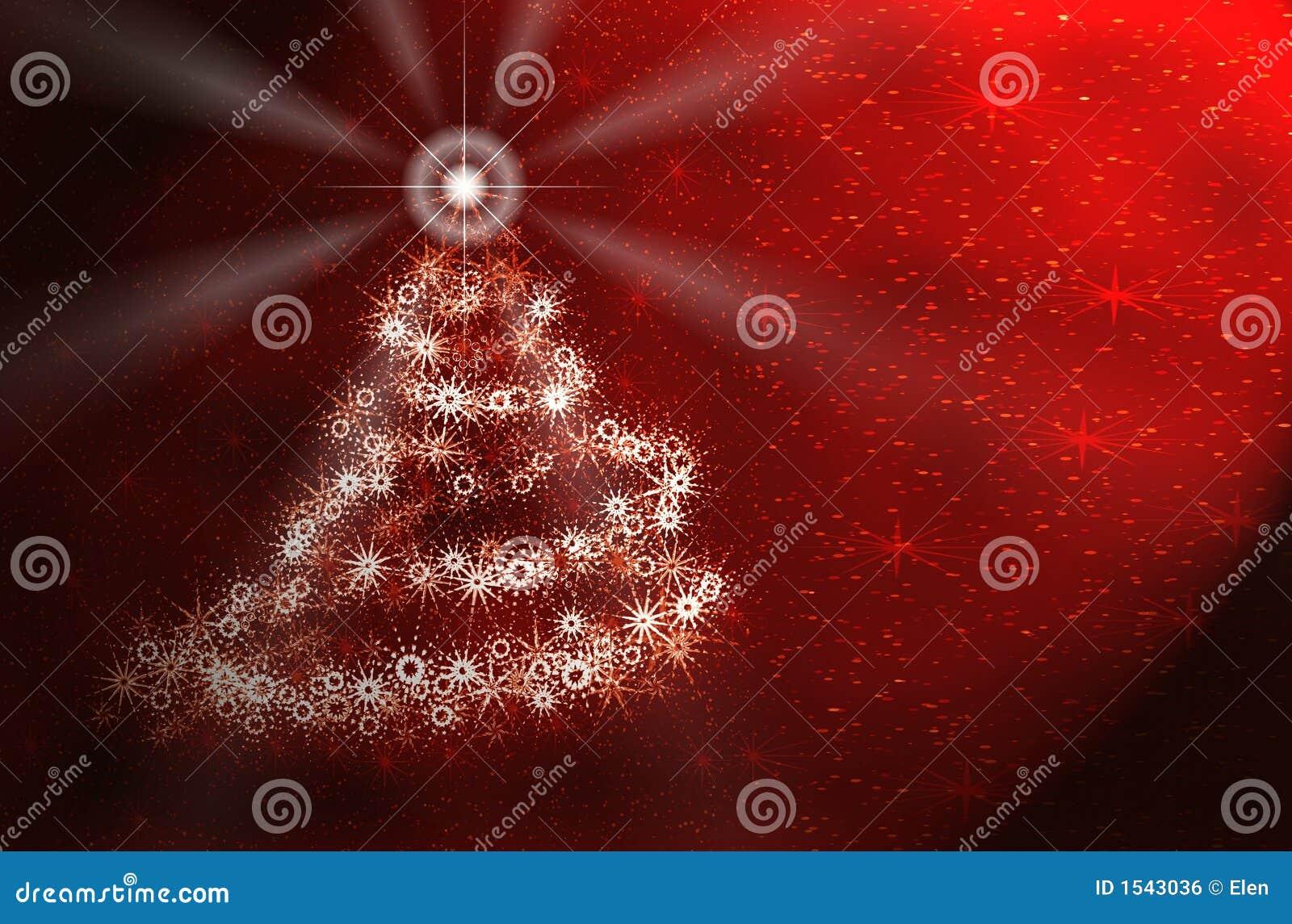 Kerstboom. Rode kaart