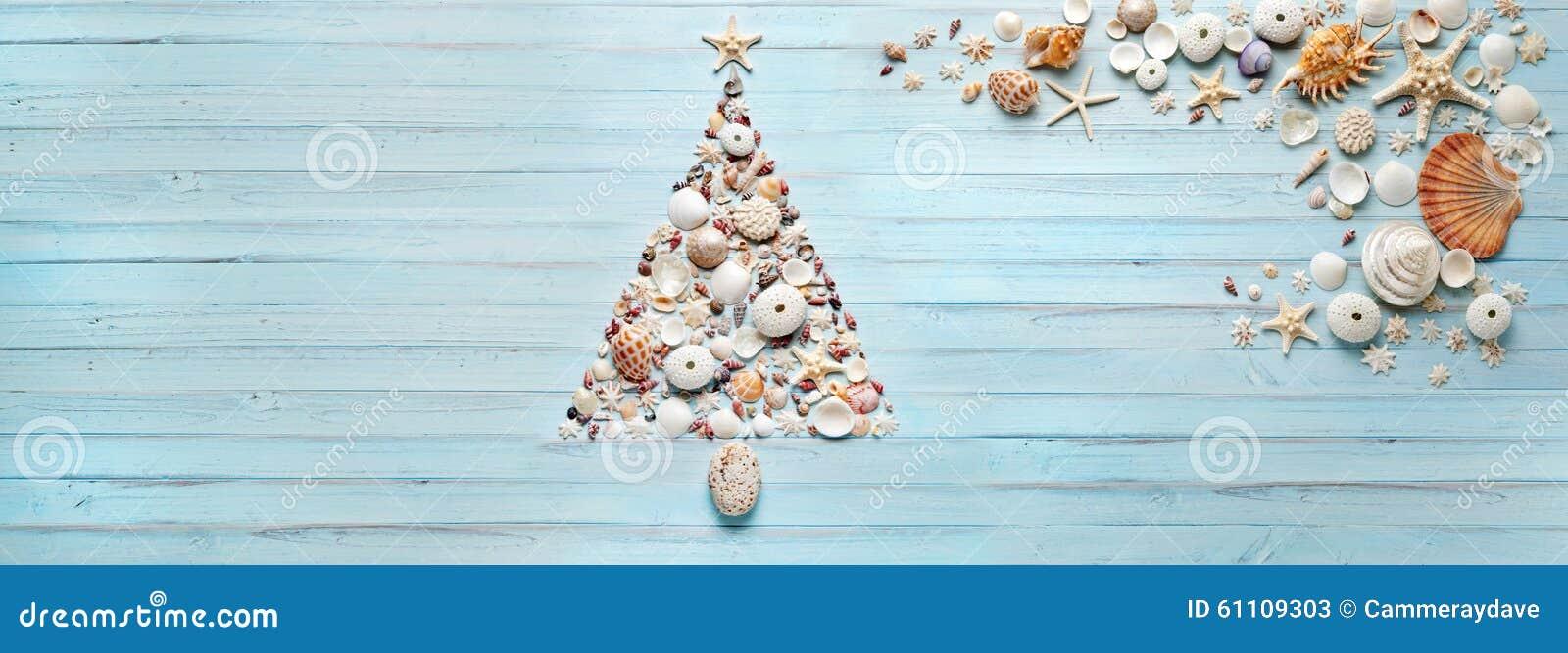 Kerstboomshells Bannerachtergrond
