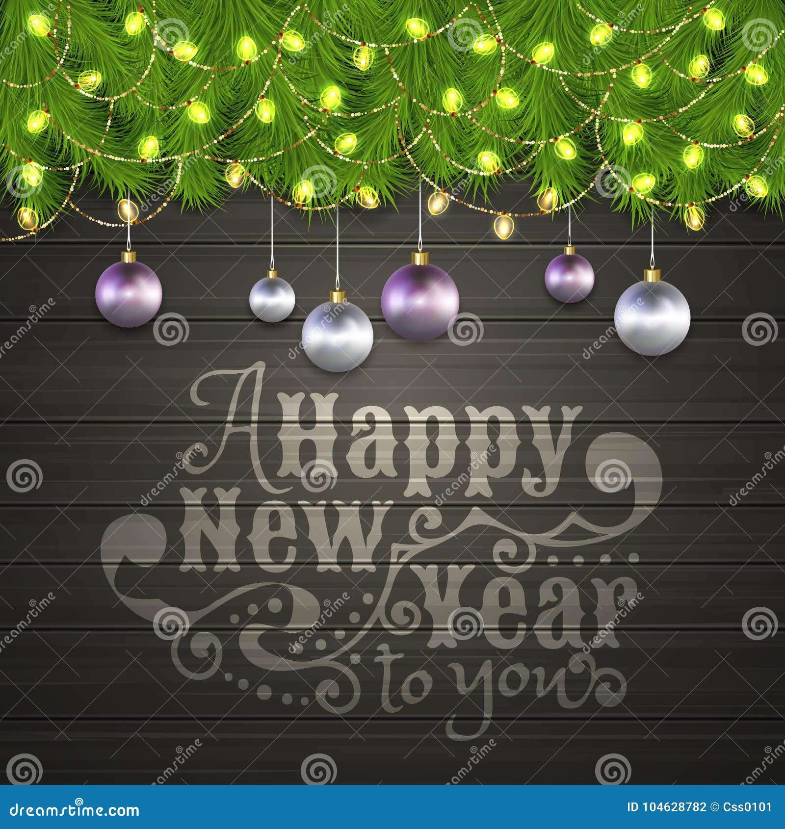 Download Kerstboomtak, Kerstmisbal, Slinger Vector Illustratie - Illustratie bestaande uit viering, frame: 104628782