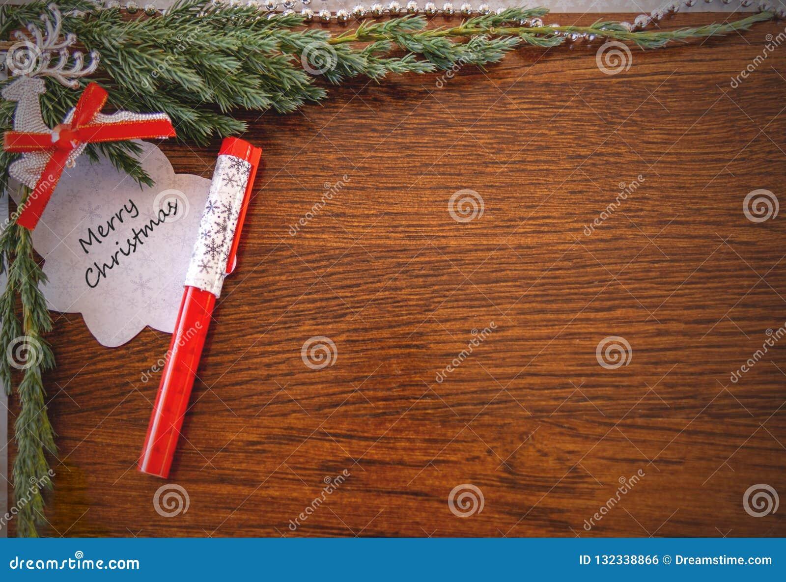 Kerstkaart met de woorden: Vrolijke Kerstmis