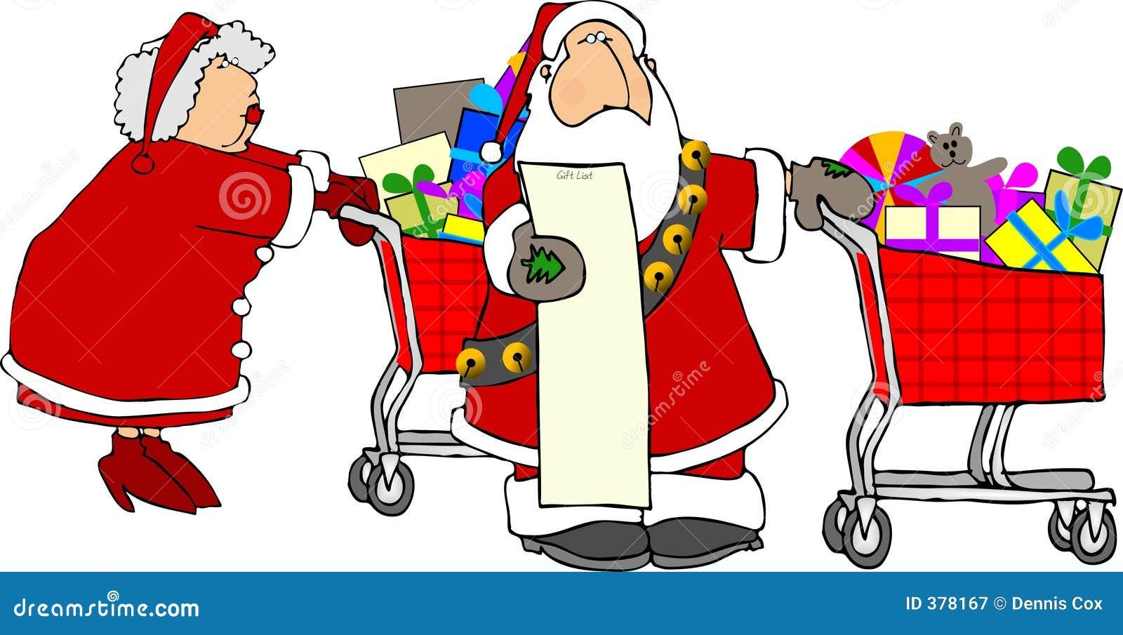 Kerstman & het winkelen van Mevr. Claus