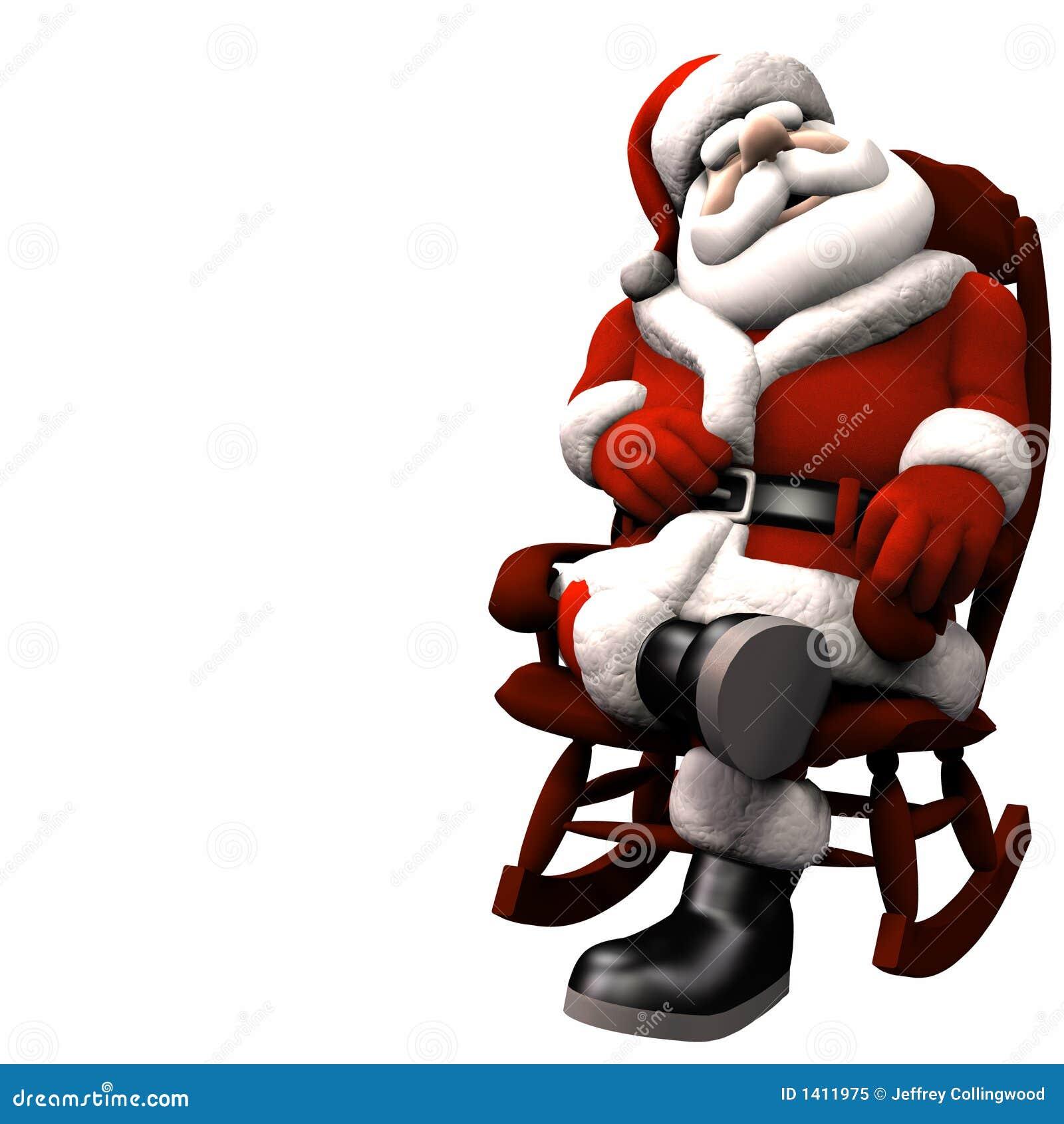 Kerstman die 2 ontspannen