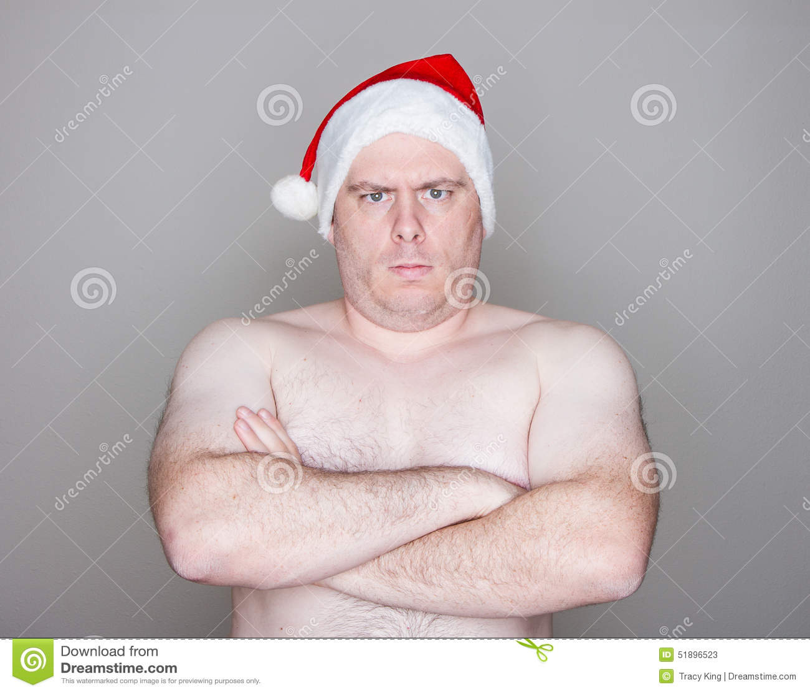 Kerstman die camera bekijken