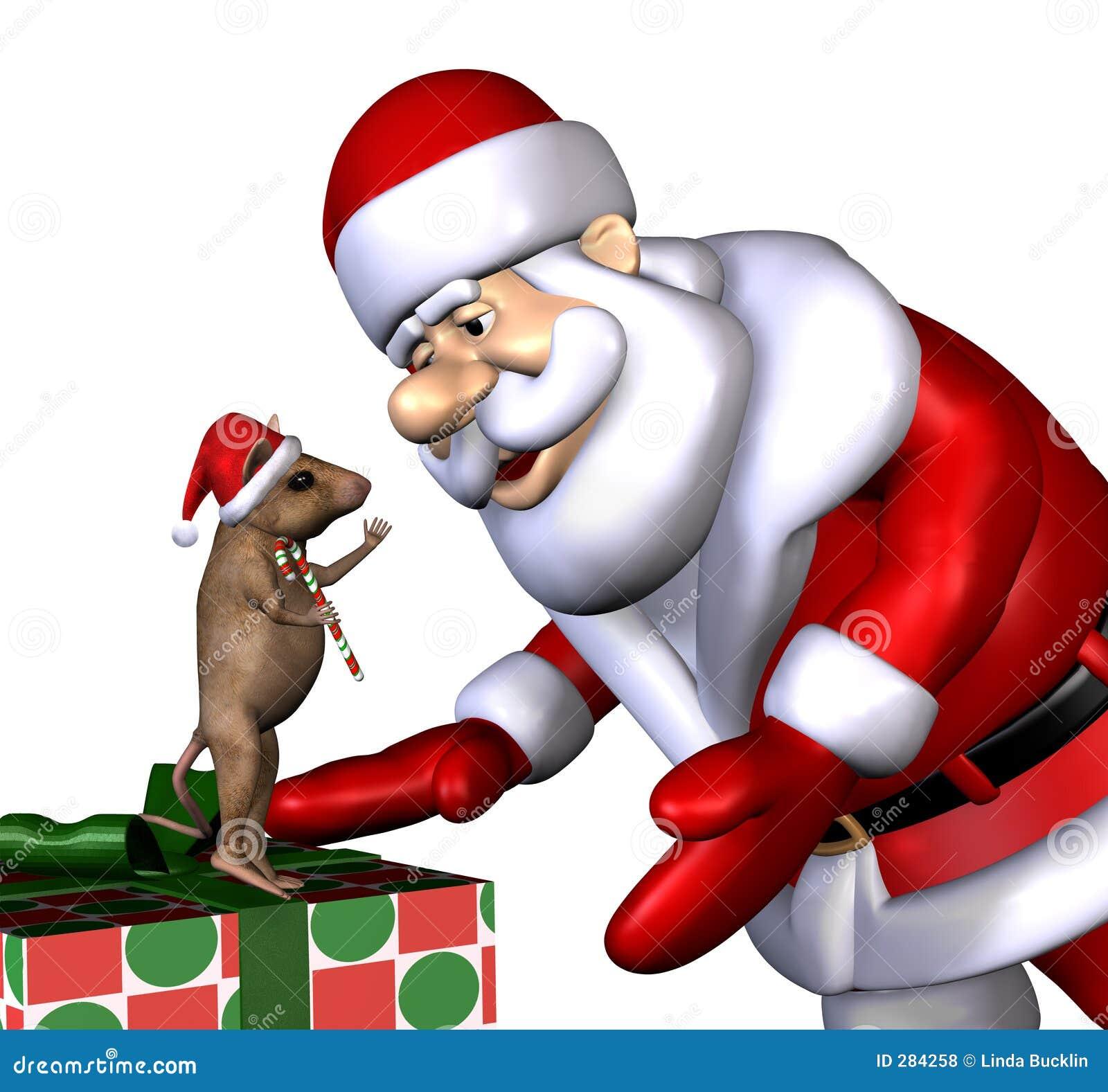 Kerstman en de Muis van Kerstmis - met het knippen van weg