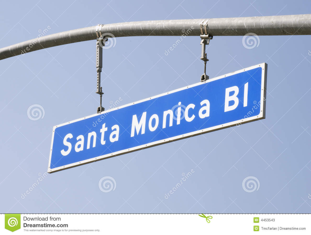Kerstman Monica Blvd Street Sign