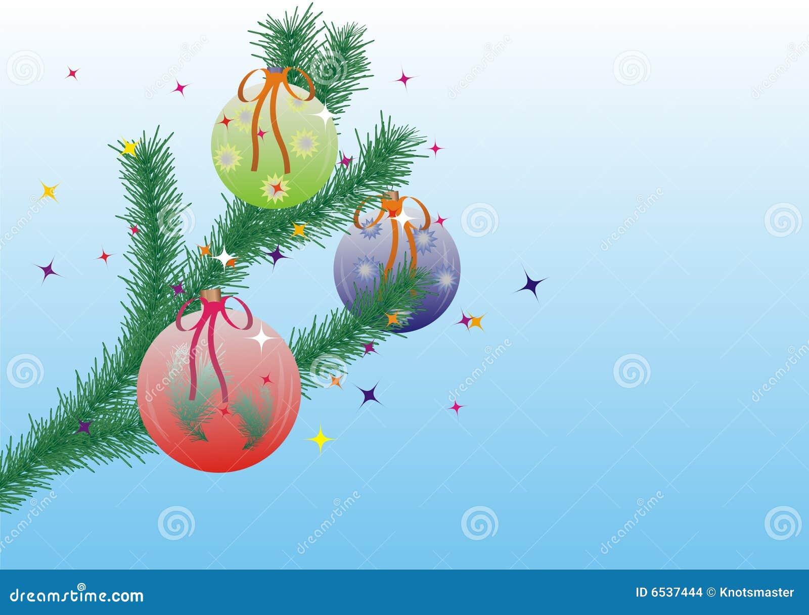 Het thema van kerstmis met bont boom tak