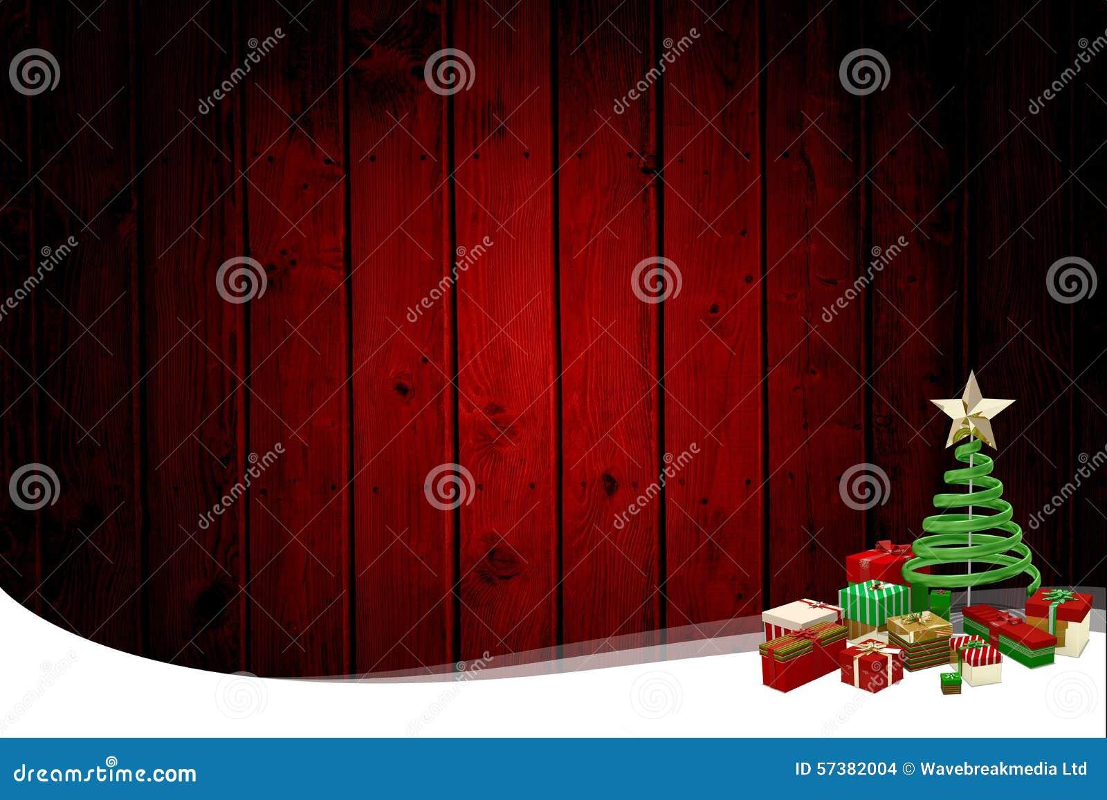 Kerstmis als thema gehad kader met boom