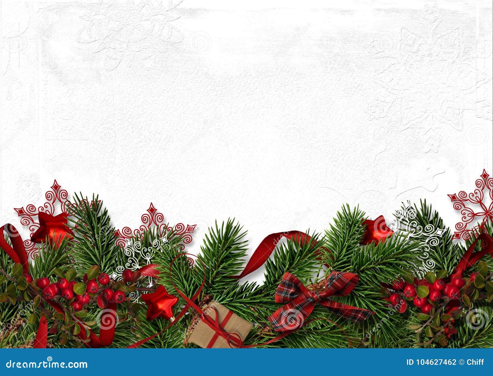 Download Kerstmis Decoratieve Grens Met Spartakken En Rode Bessen Stock Foto - Afbeelding bestaande uit boog, decoratie: 104627462