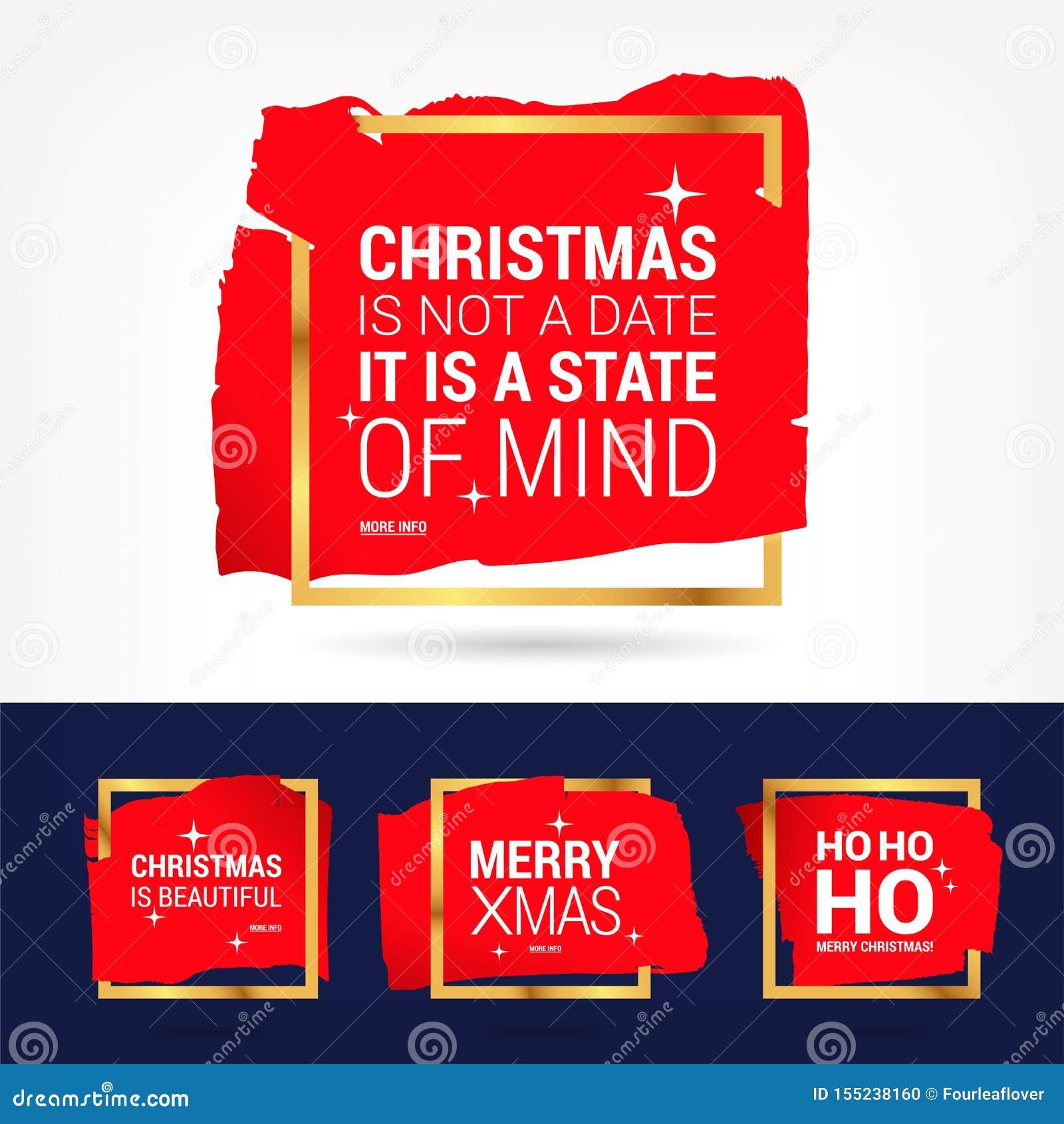 Kerstmis en de gelukkige nieuwe citaten geplaatste van de jaarviering