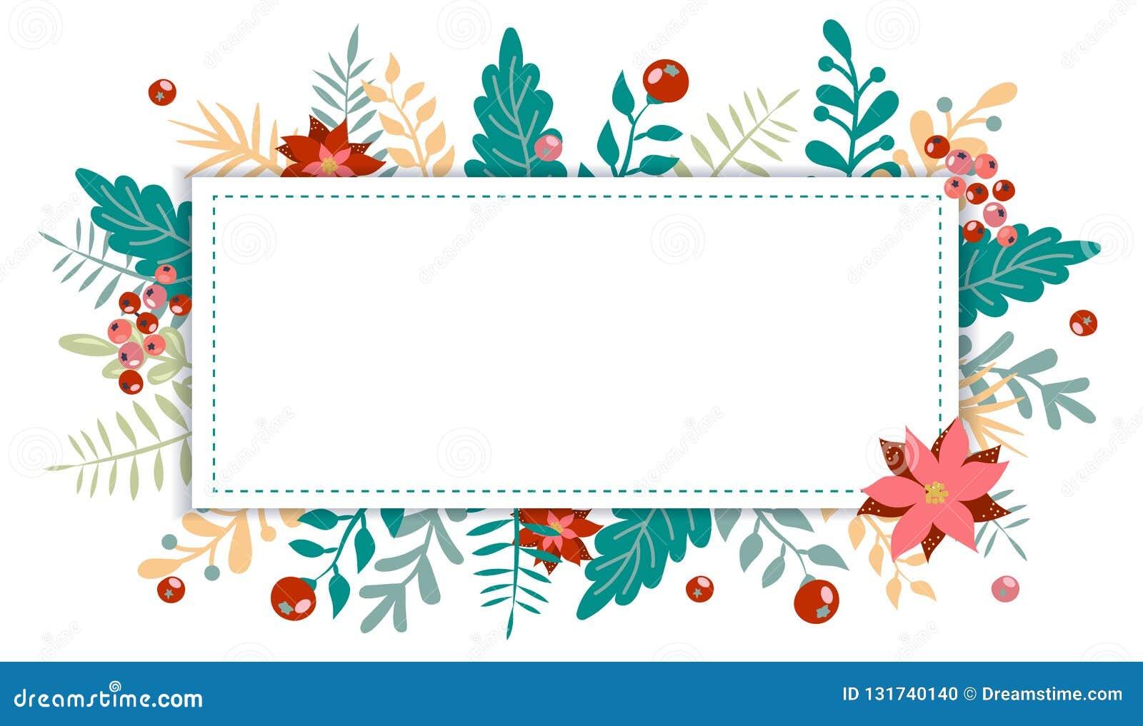 Kerstmis en nieuw jaarelement, affiche voor uw ontwerp