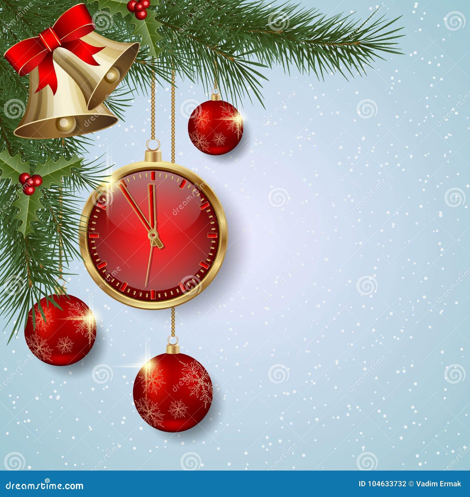 Download Kerstmis En Nieuwjaar Vectorachtergrond Vector Illustratie - Illustratie bestaande uit luxe, elegant: 104633732