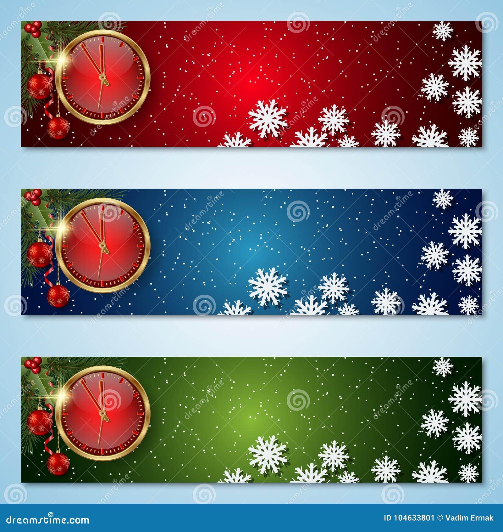 Download Kerstmis En Nieuwjaar Vectorbanners Vector Illustratie - Illustratie bestaande uit vakantie, coupon: 104633801