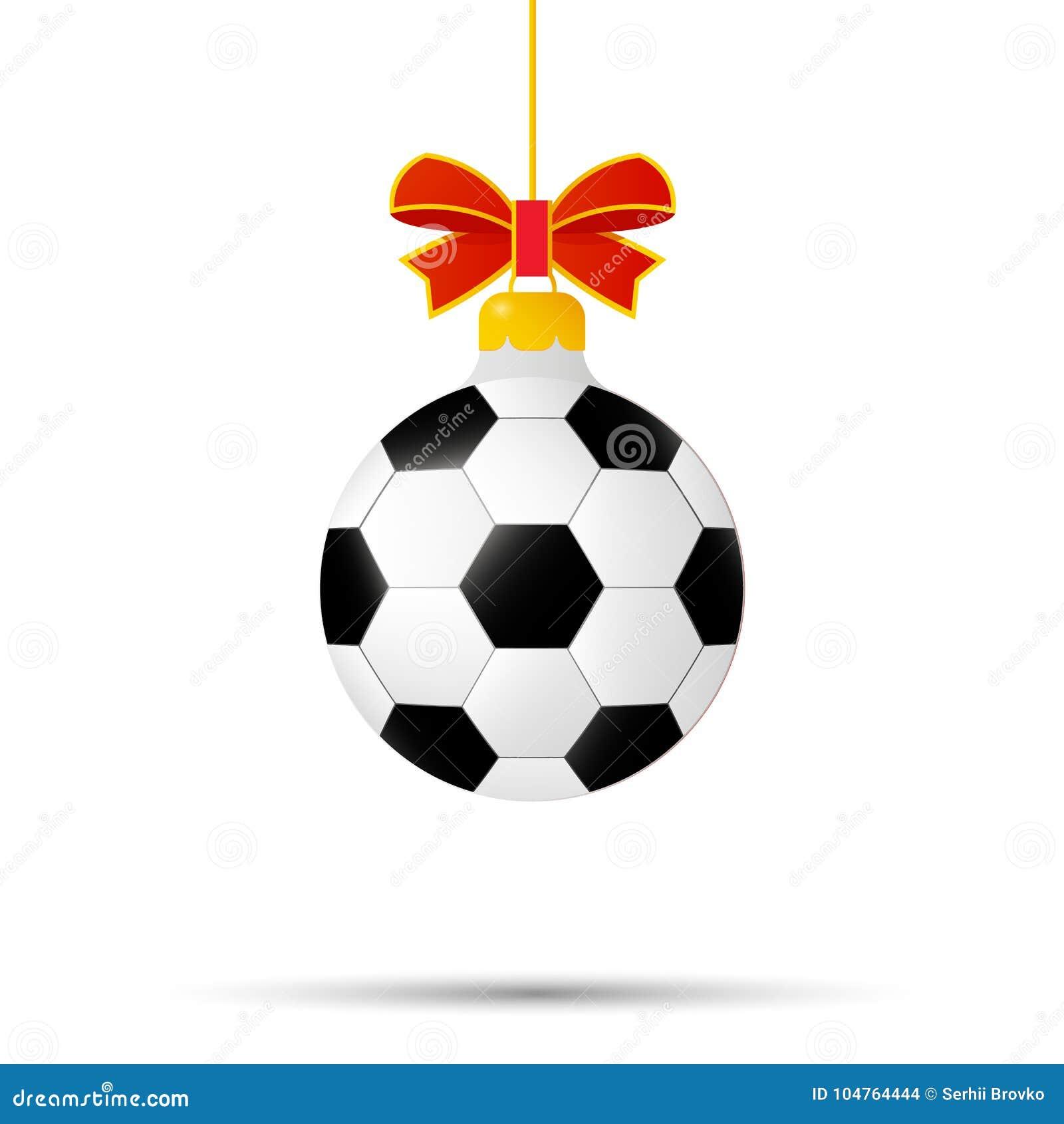 Kerstmis en Nieuwjaarstuk speelgoed voetbalbal