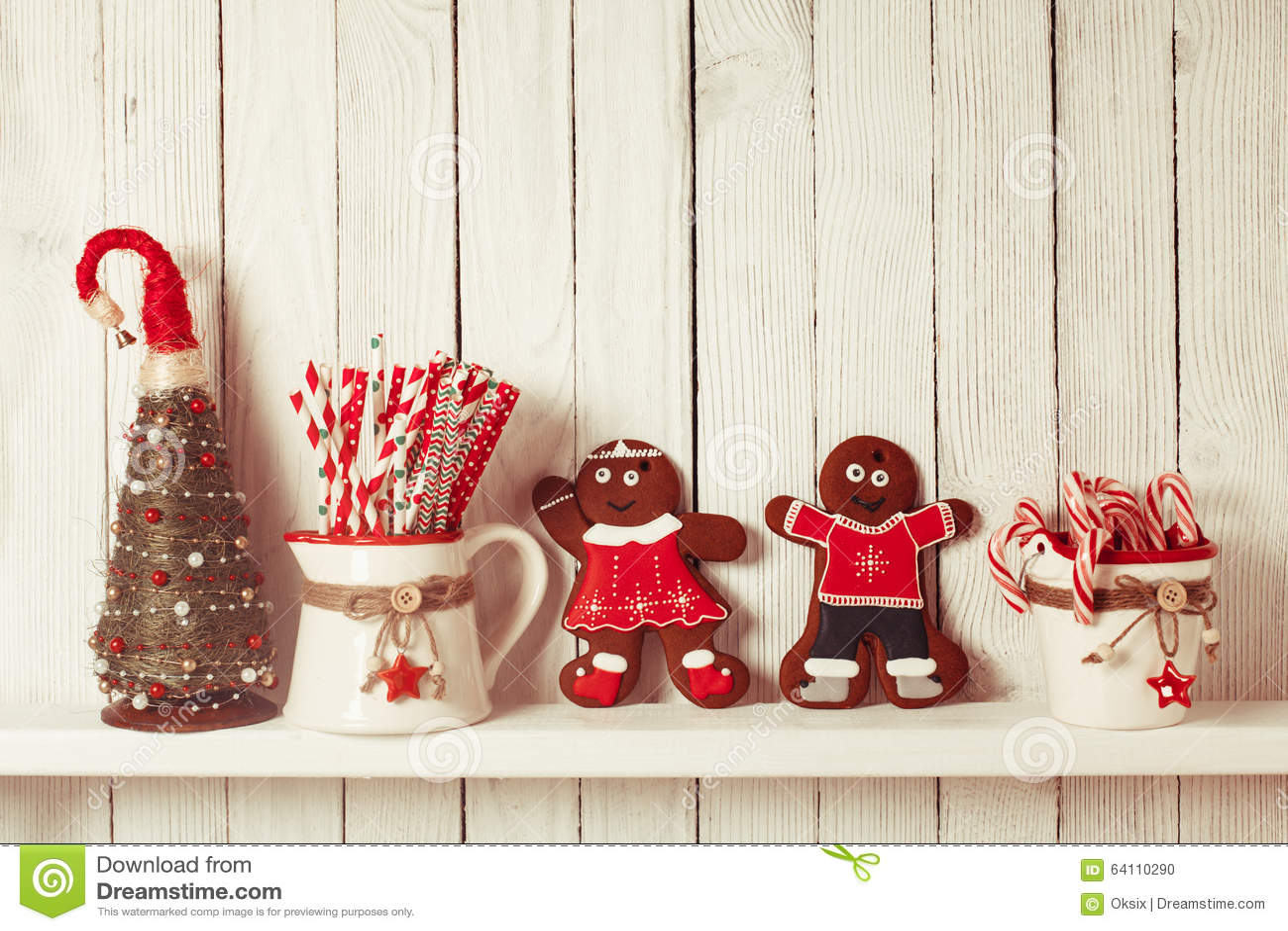 Kerstmis gingermen familie