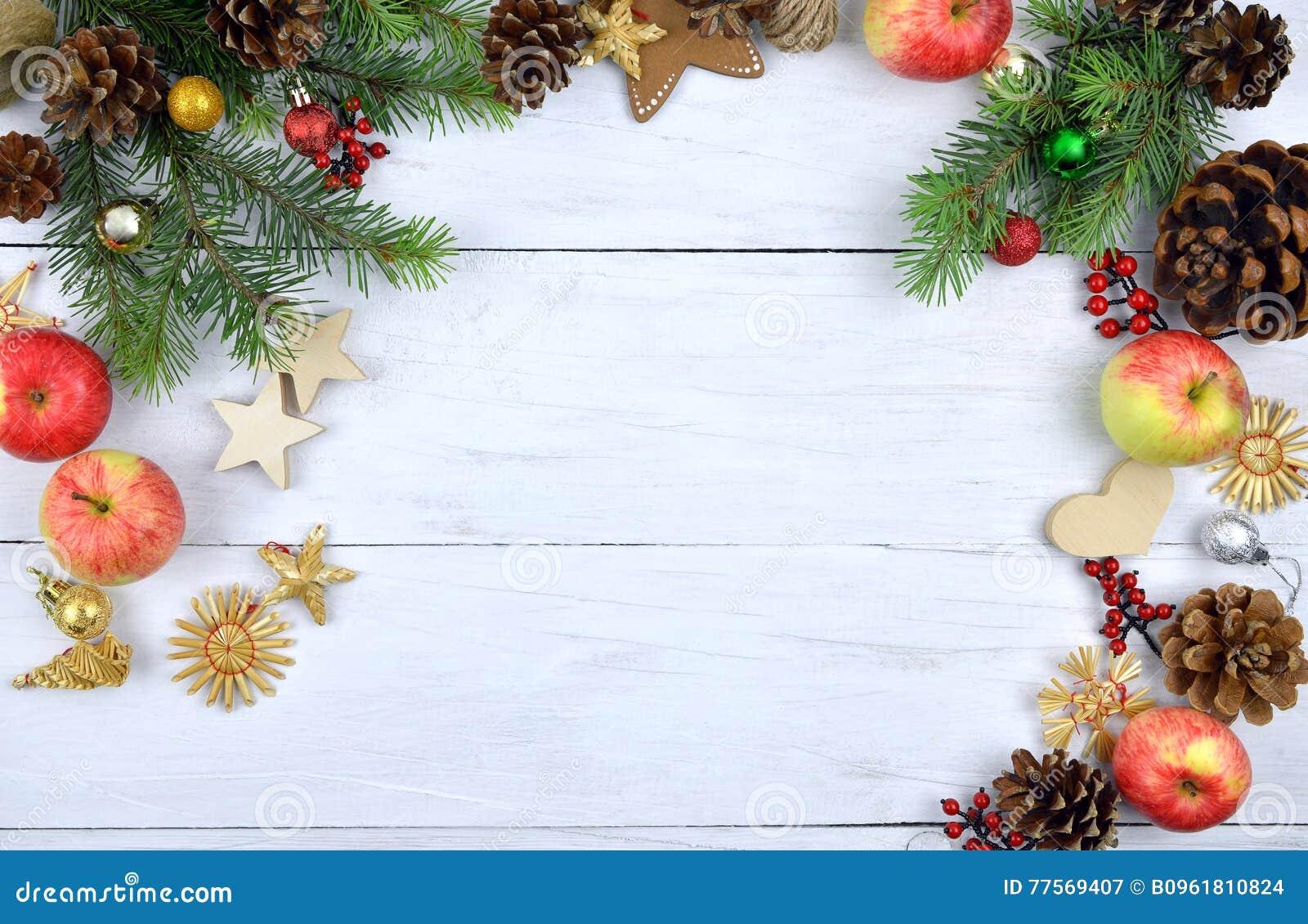 Kerstmis houten achtergrond rustic Natuurlijke Elementen
