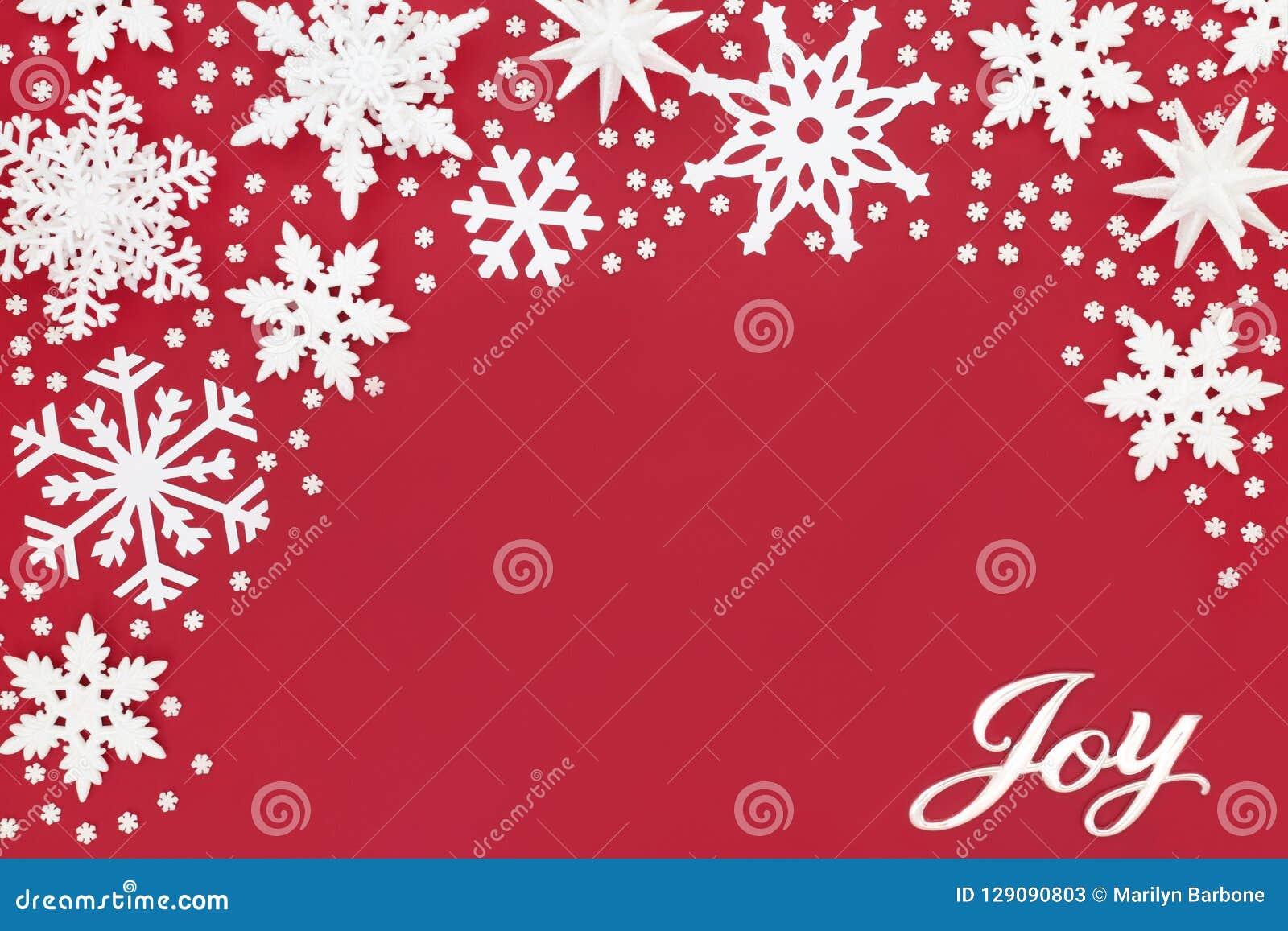 Kerstmis Joy Sign en Sneeuwvlokdecoratie