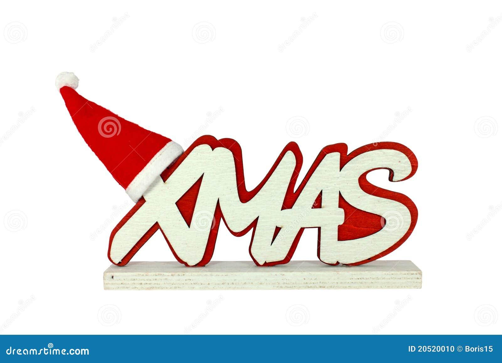 Kerstmis met de hoed van de Kerstman