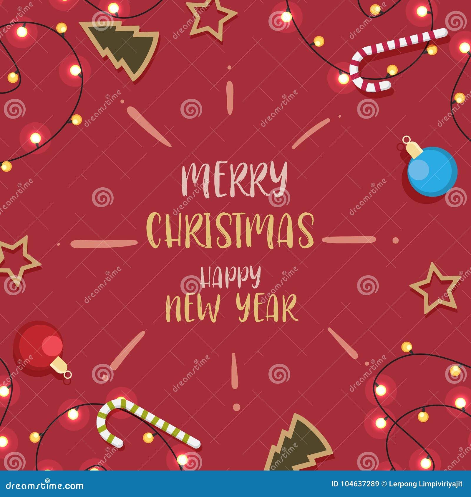 Download Kerstmis Met Verfraaid In Achtergrondrood Vector Illustratie - Illustratie bestaande uit cultuur, gelukwens: 104637289
