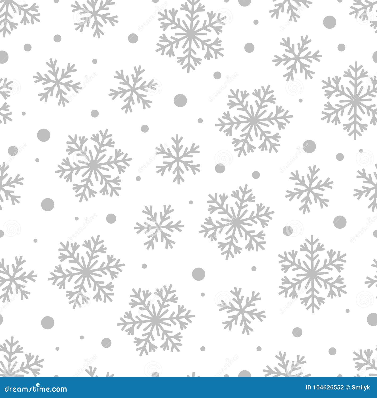 Download Kerstmis Naadloos Patroon Van Grey Snowflakes En Cirkels Vector Illustratie - Illustratie bestaande uit viering, nieuw: 104626552