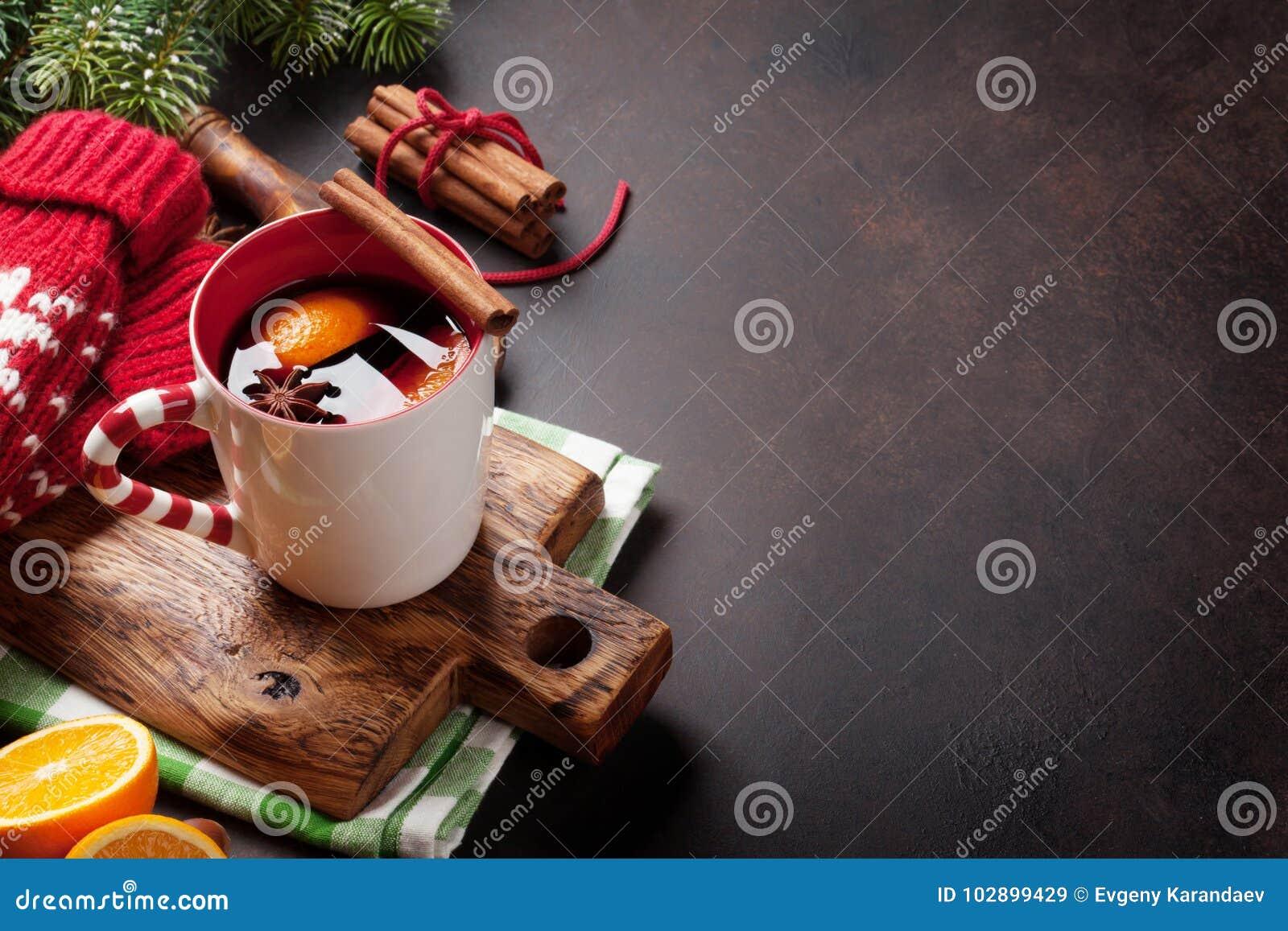 Kerstmis overwogen wijn