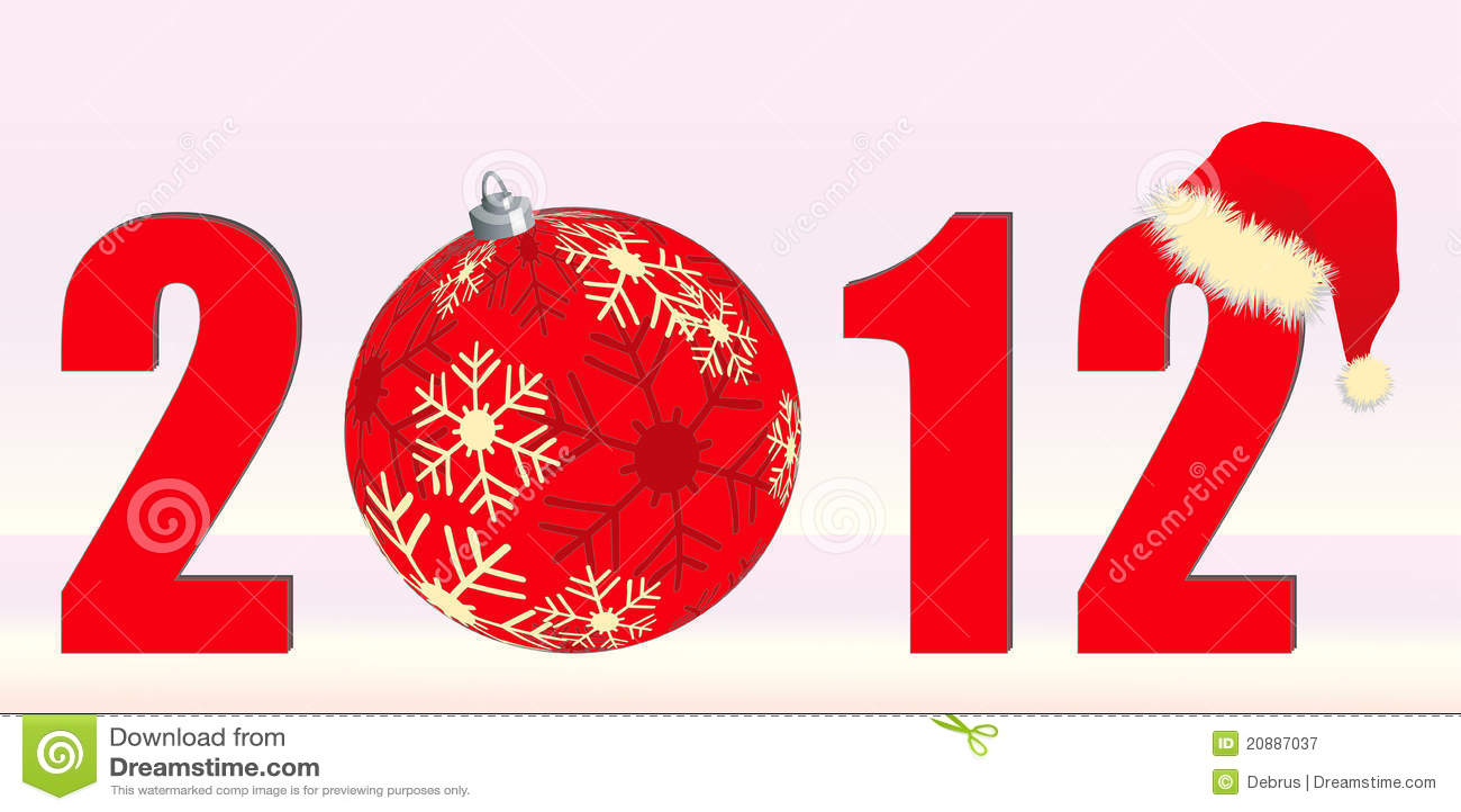 Kerstmis themed 2012 met kerstmissnuisterij en de hoed van de kerstman