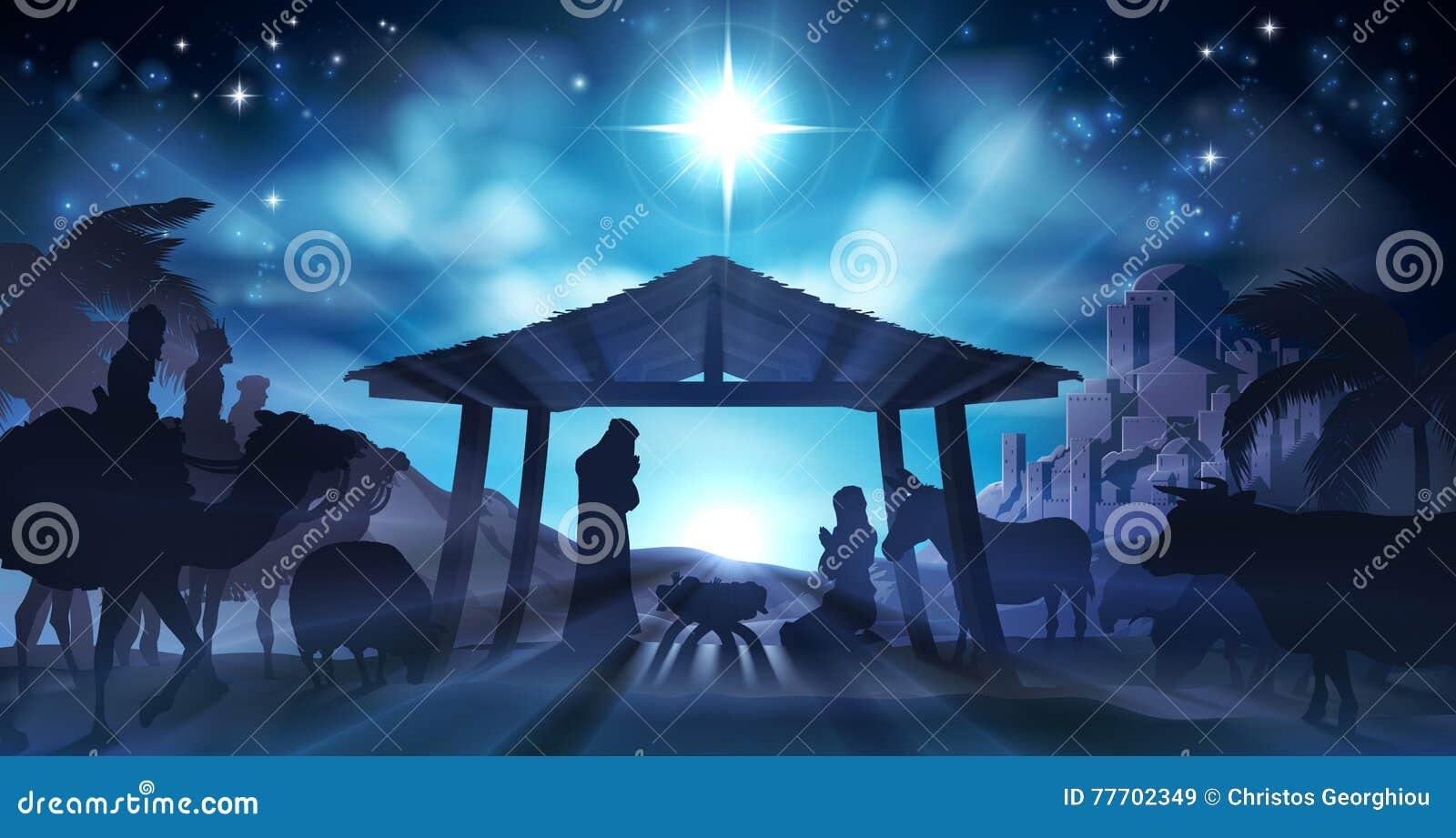 Kerstmis van de geboorte van Christusscène