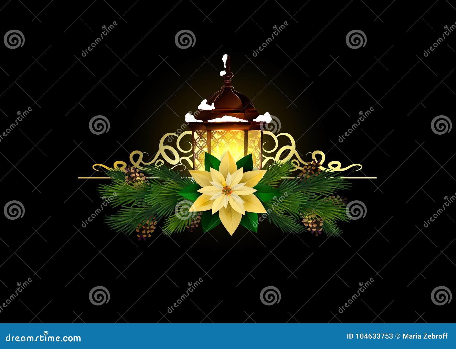 Download Kerstmiselementen Voor Uw Ontwerpen Vector Illustratie - Illustratie bestaande uit bloem, goud: 104633753