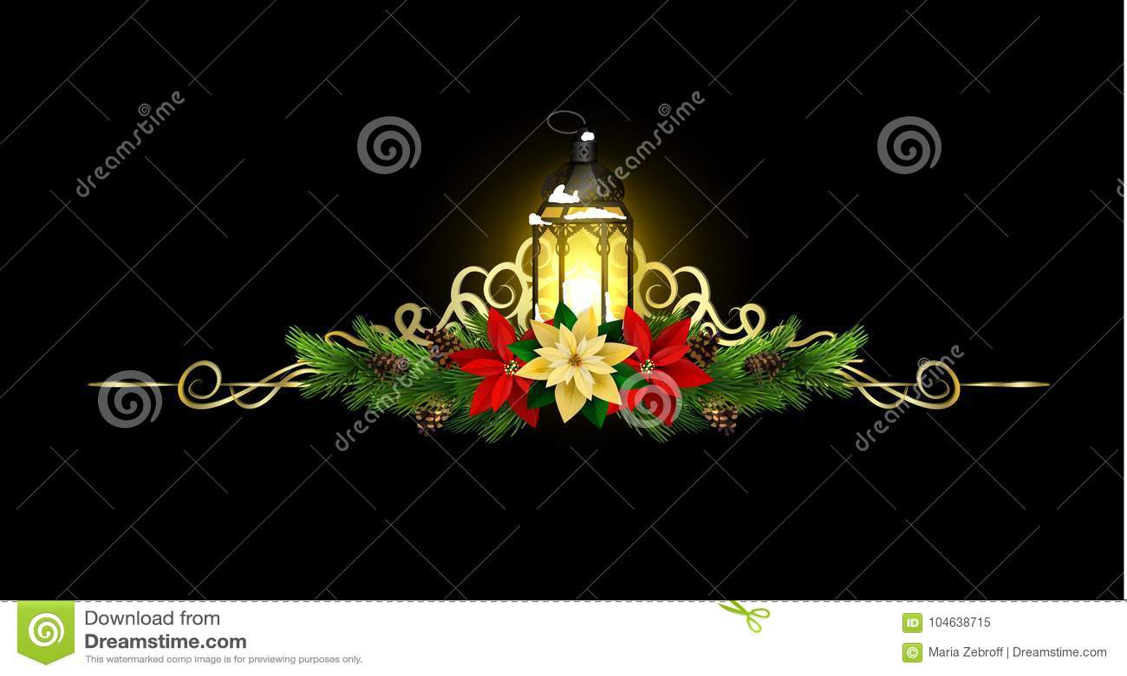 Download Kerstmiselementen Voor Uw Ontwerpen Vector Illustratie - Illustratie bestaande uit poinsettia, decoratief: 104638715