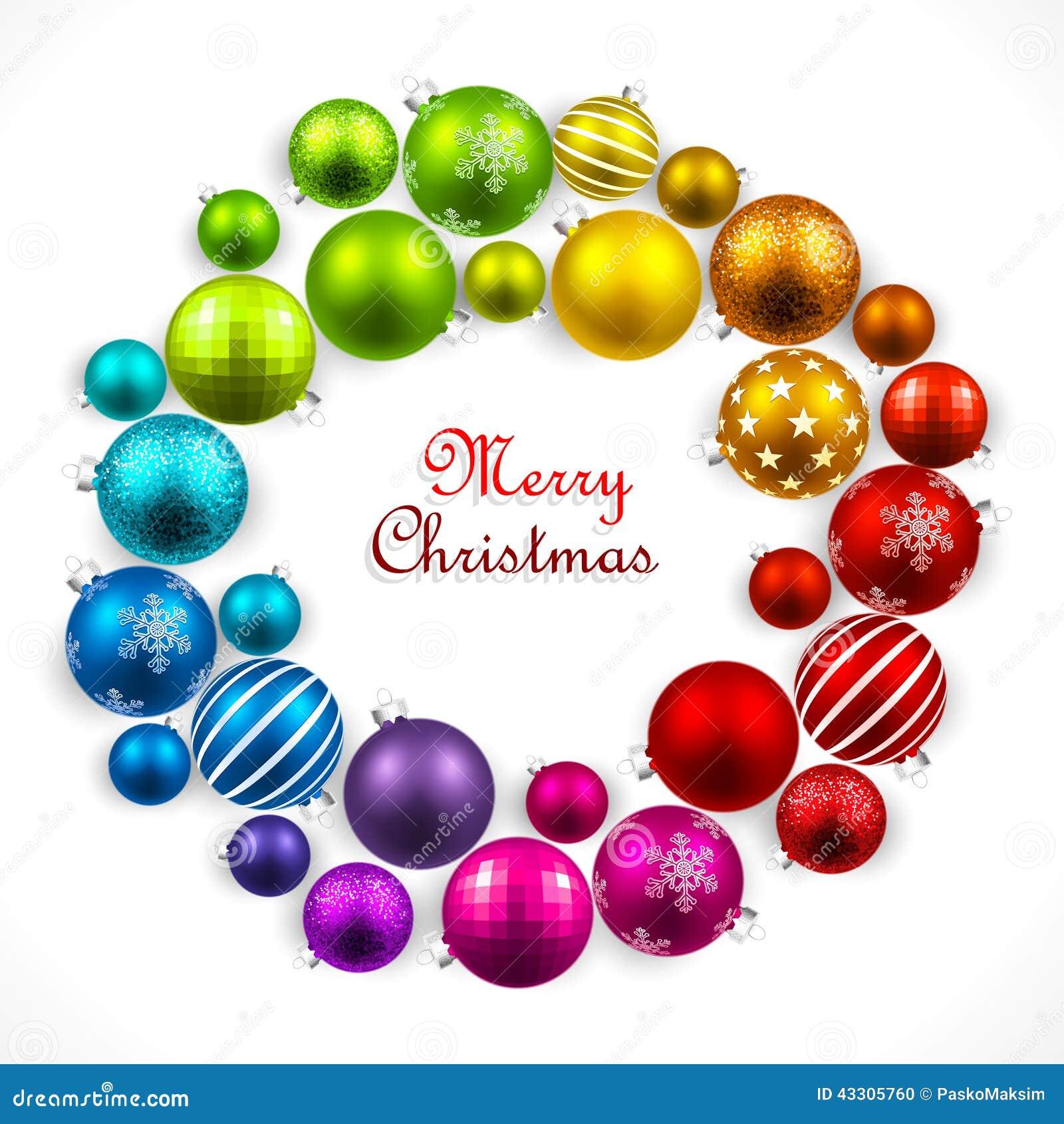 Kerstmiskroon van gekleurde ballen