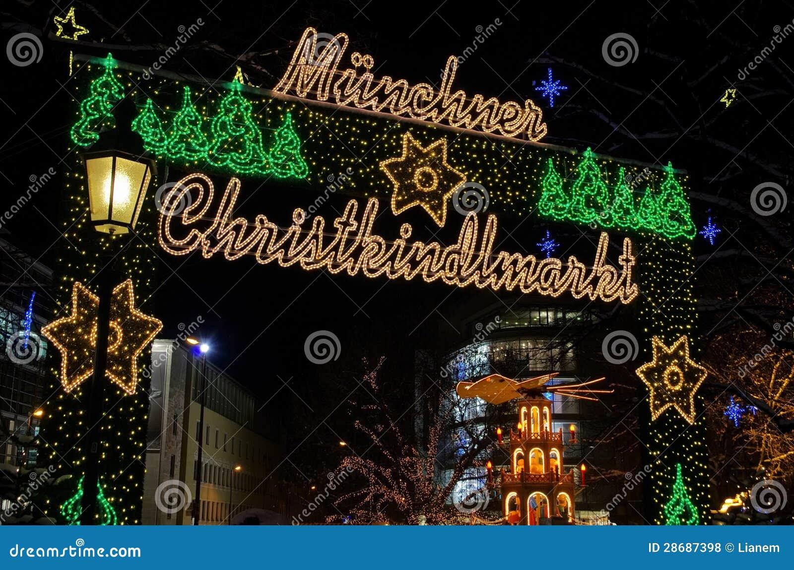 Kerstmismarkt van München