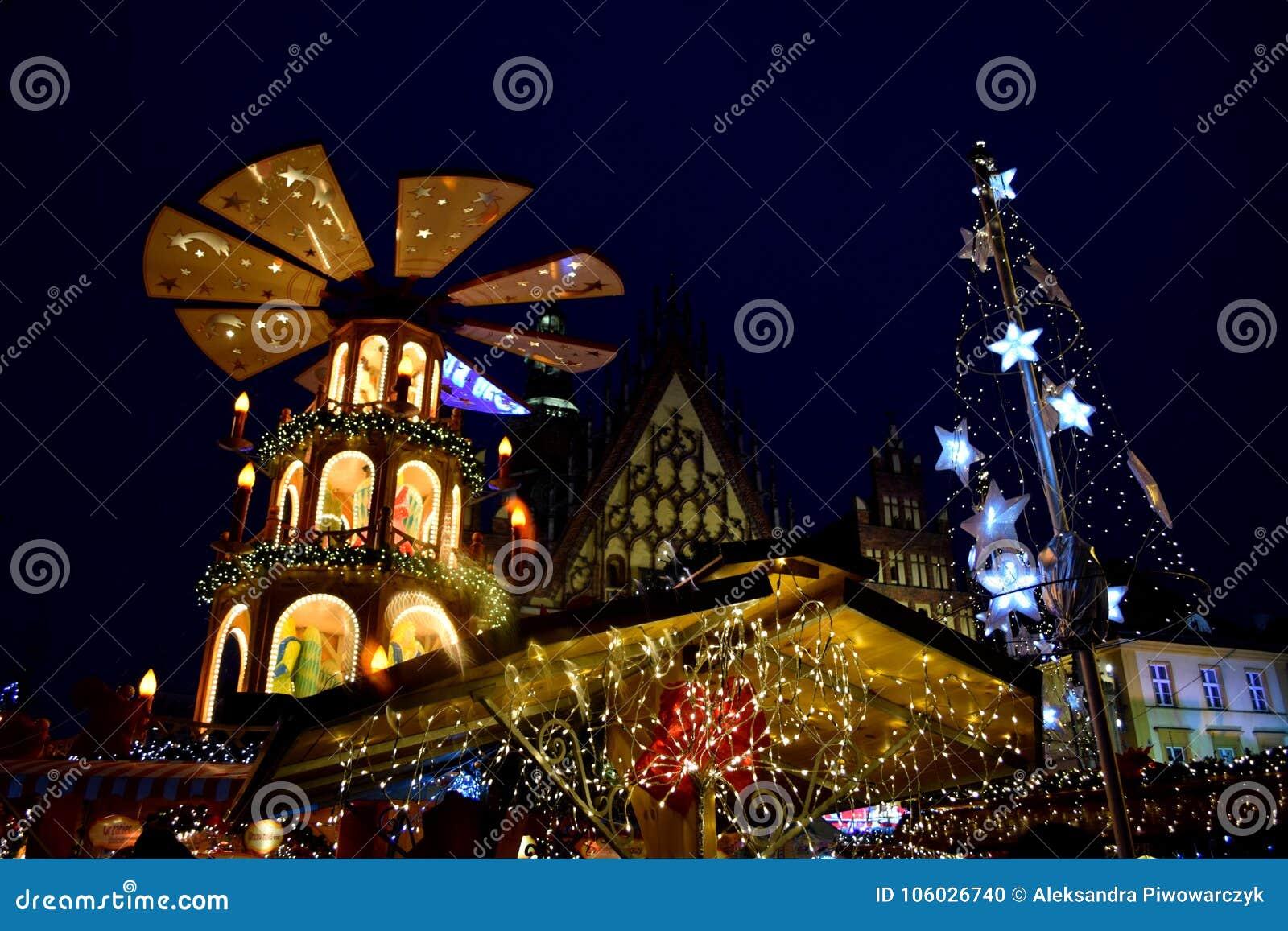 Kerstmismarkt in Wroclaw